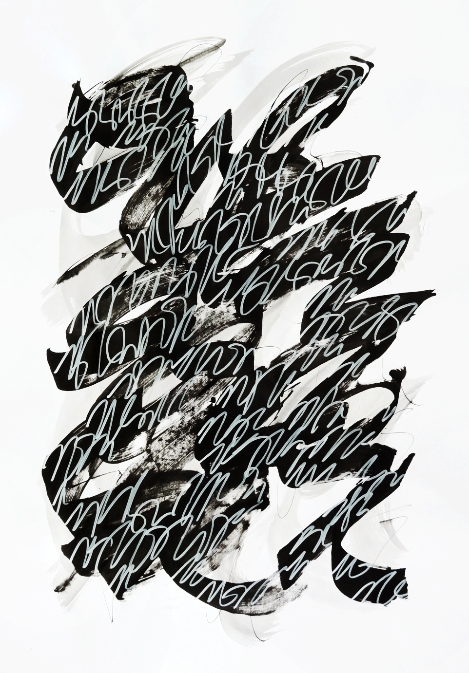 Untitled, 2019 calligraphy ink on paper 84,1 x 59,4 cm (27-19)