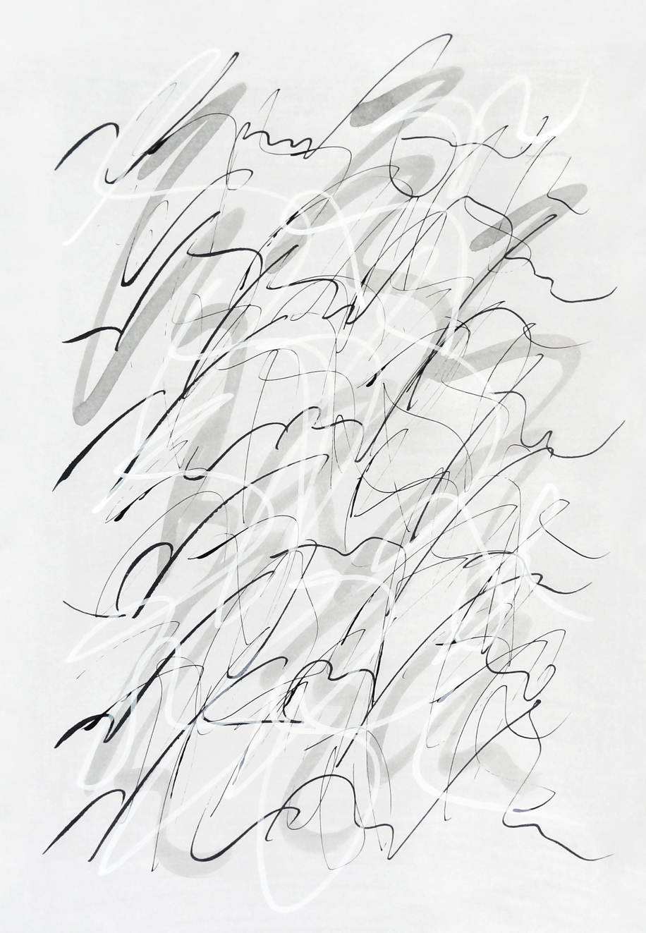 Untitled, 2019 calligraphy ink on paper 42,0 x 29,7 cm (28-19)