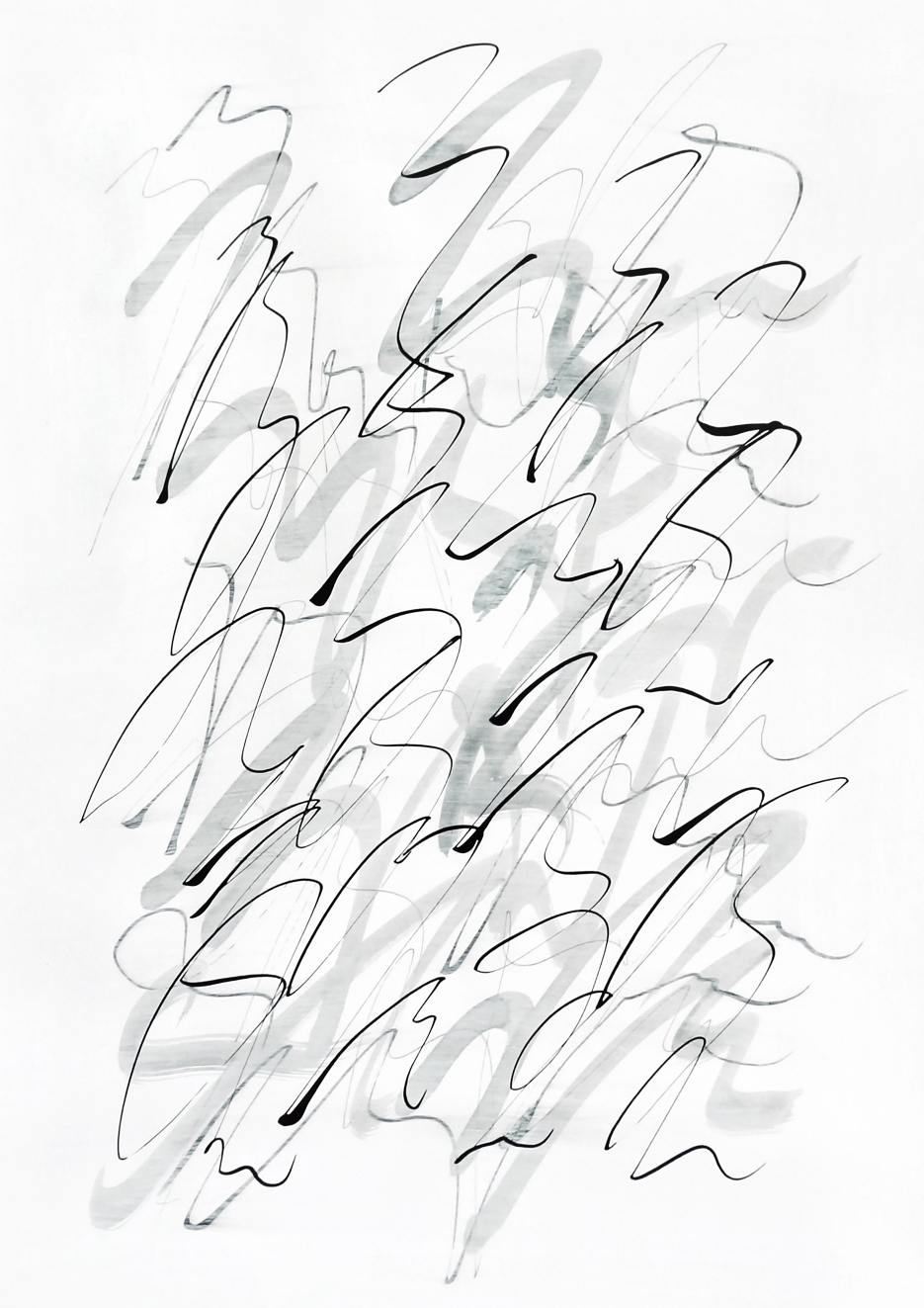 Untitled, 2019 calligraphy ink on paper 42,0 x 29,7 cm (32-19)