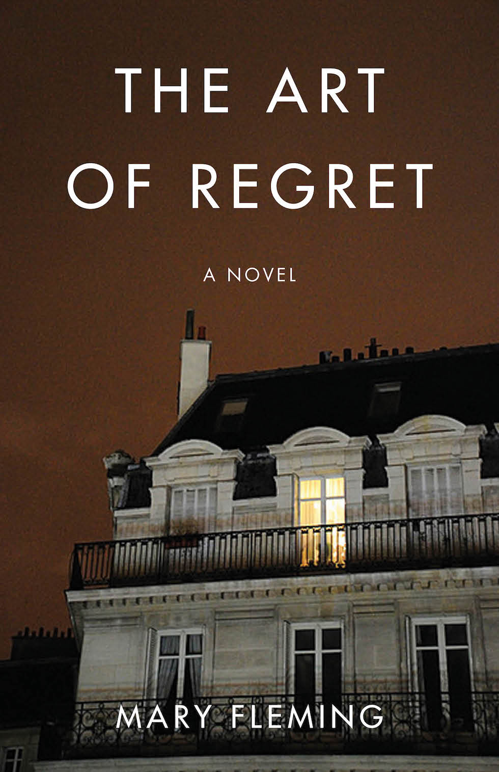The Art of Regret - Coming October 2019!In The Art of Regret, a novel by Mary Fleming, late-thirty-something American Trevor McFarquhar is doing his best to lead an aimless and apathetic existence in Paris. Full of resentment and unresolved feelings toward his bourgeois family, and still mourning the long-ago deaths of his young sister and, a year later, his father, Trevor abandoned an early career as a photographer and now half-heartedly runs a bicycle shop, while pursuing various women he terms Casuals. But the 1995 French transport strike and a liaison dangereuse with his sister-in-law upend Trevor's plan for non-living. Five years later, humbled by his immoral act, tired of his desultory life and actually missing his family, Trevor is given a second chance to find redemption and even love.