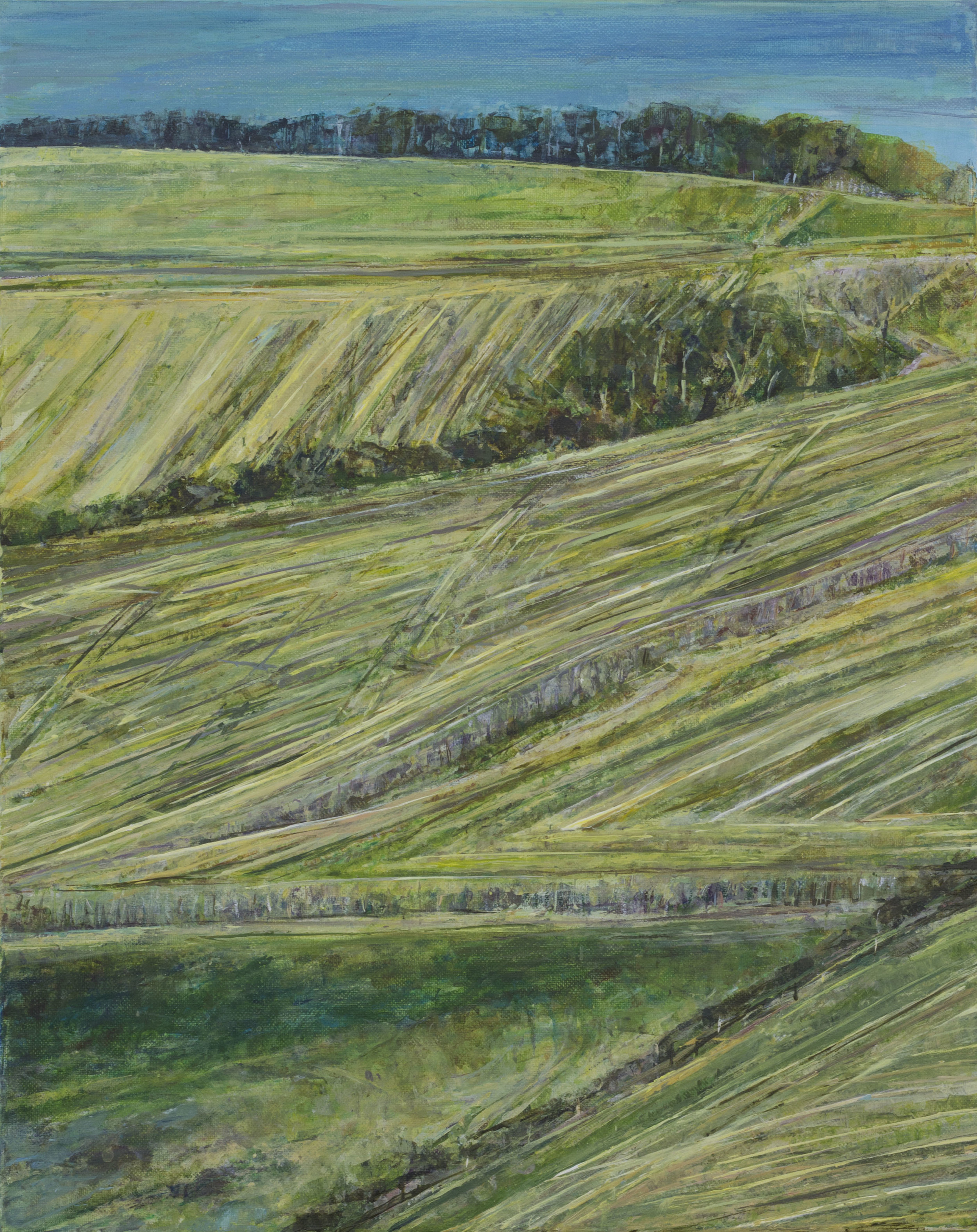 Devil's Dyke from North Hill - Oil pastel and acrylic paint on canvas65cm x 85cmSOLD
