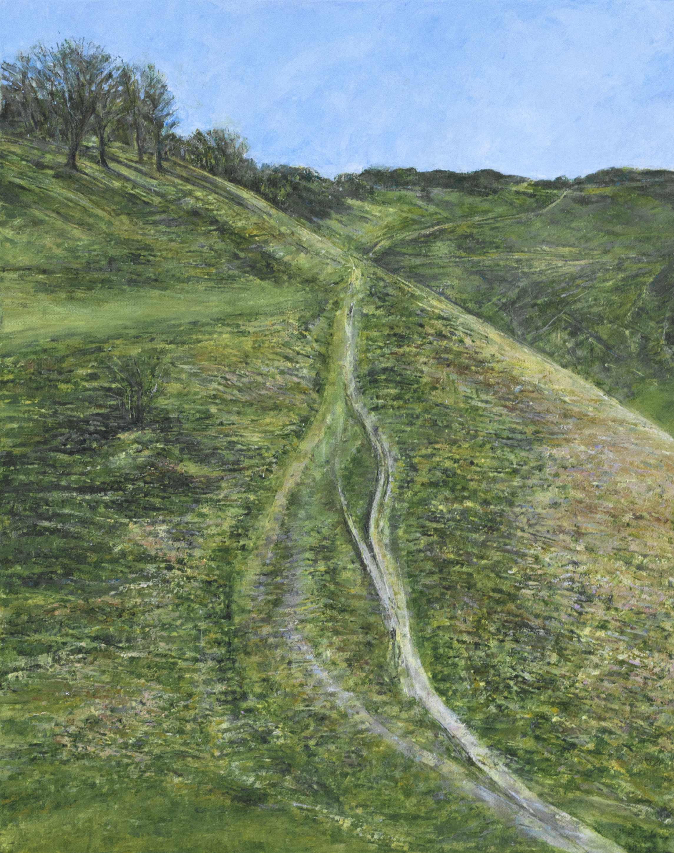 Path to Devil's Dyke - Oil pastel and acrylic paint on canvas50cm x 40cmSOLD