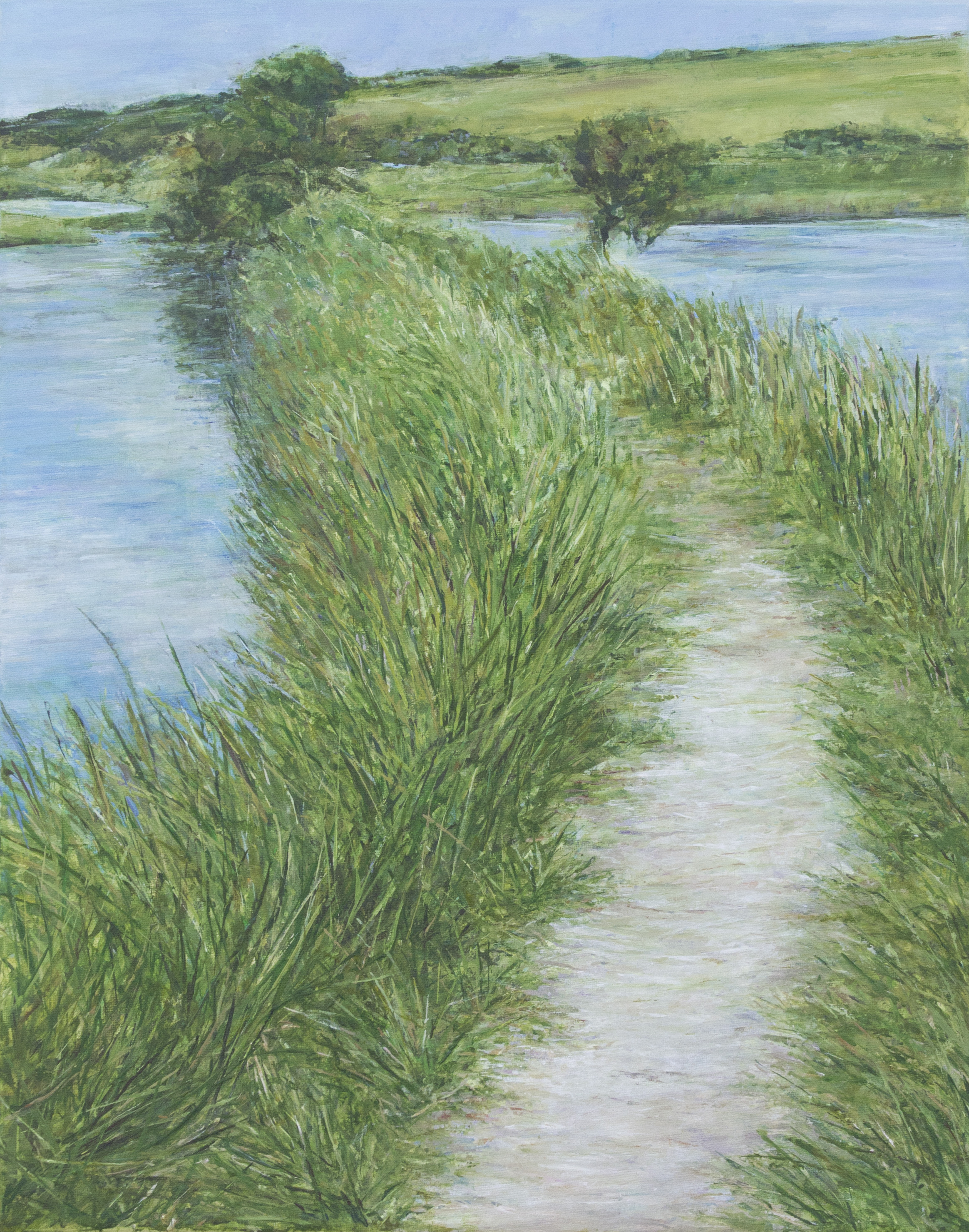Path Across the Cuckmere River - Acrylic paint on canvas50cm x 40cm£495