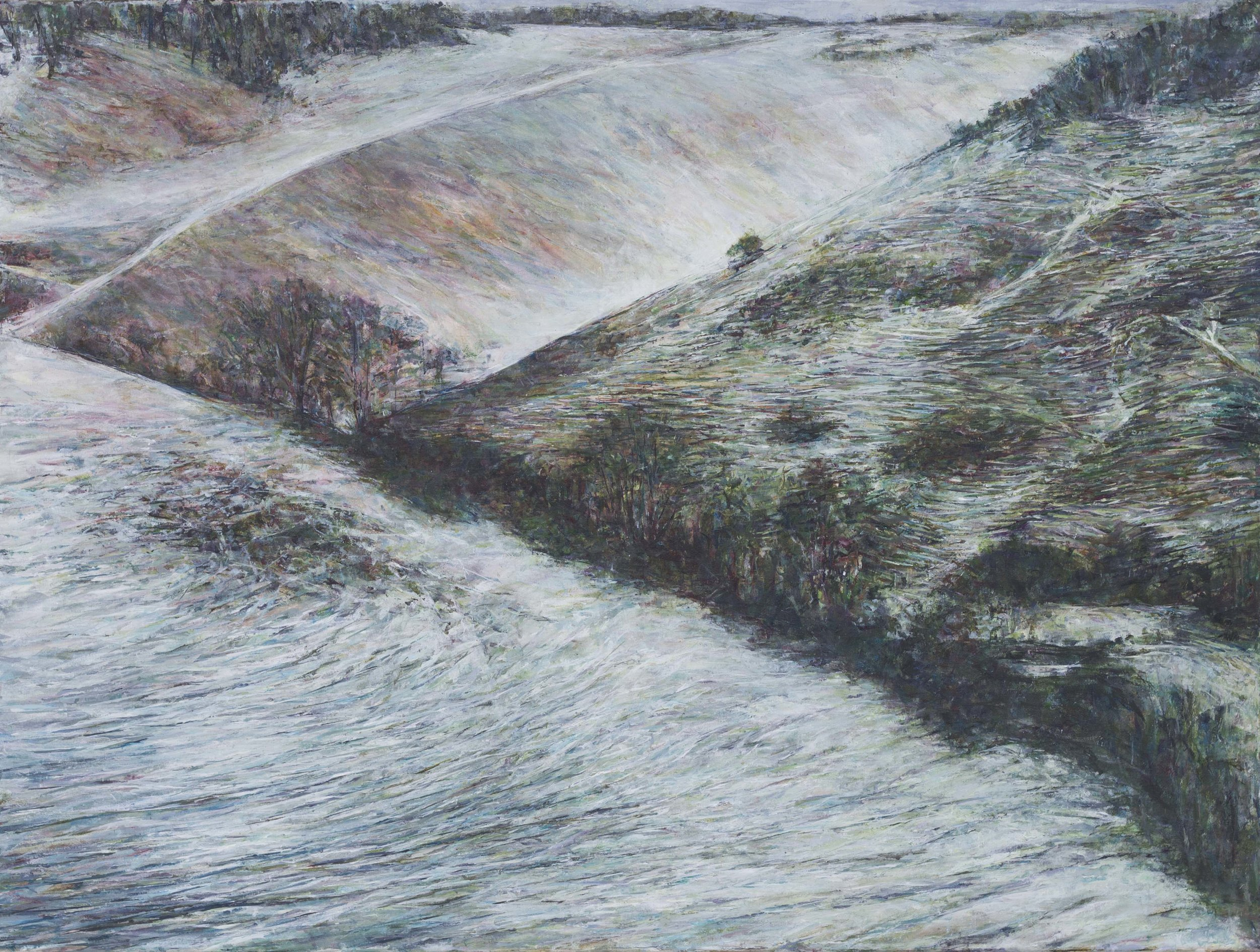 Winter Hills - Oil pastel and acrylic paint on canvas60cm x 80cm£850 unframed