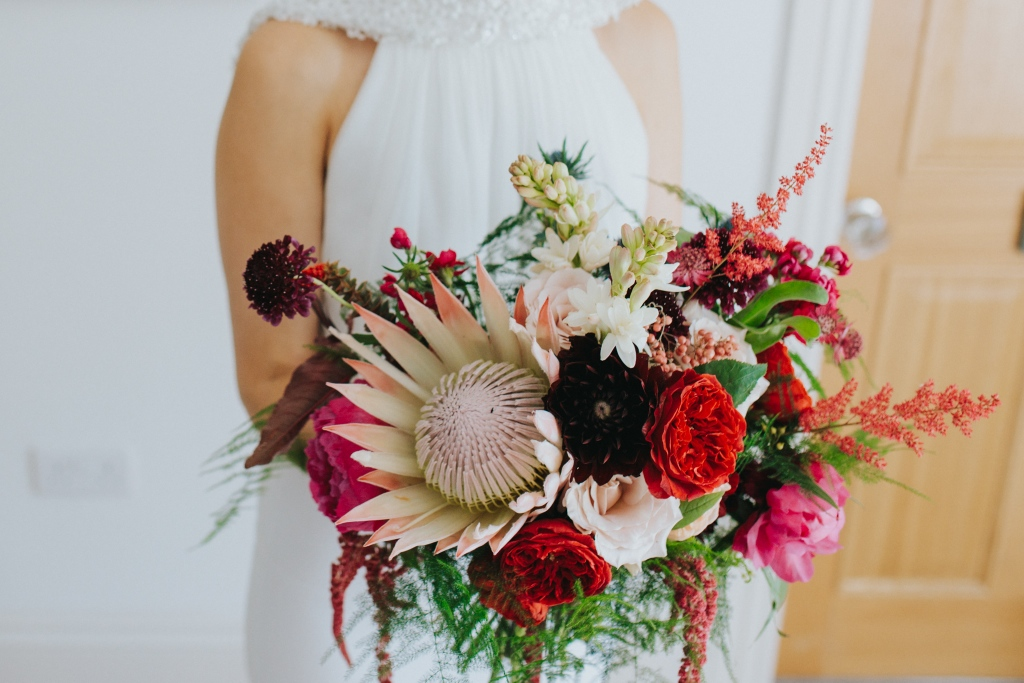 Step 1 Book in before your wedding and arrange for your bouquet to be delivered to us