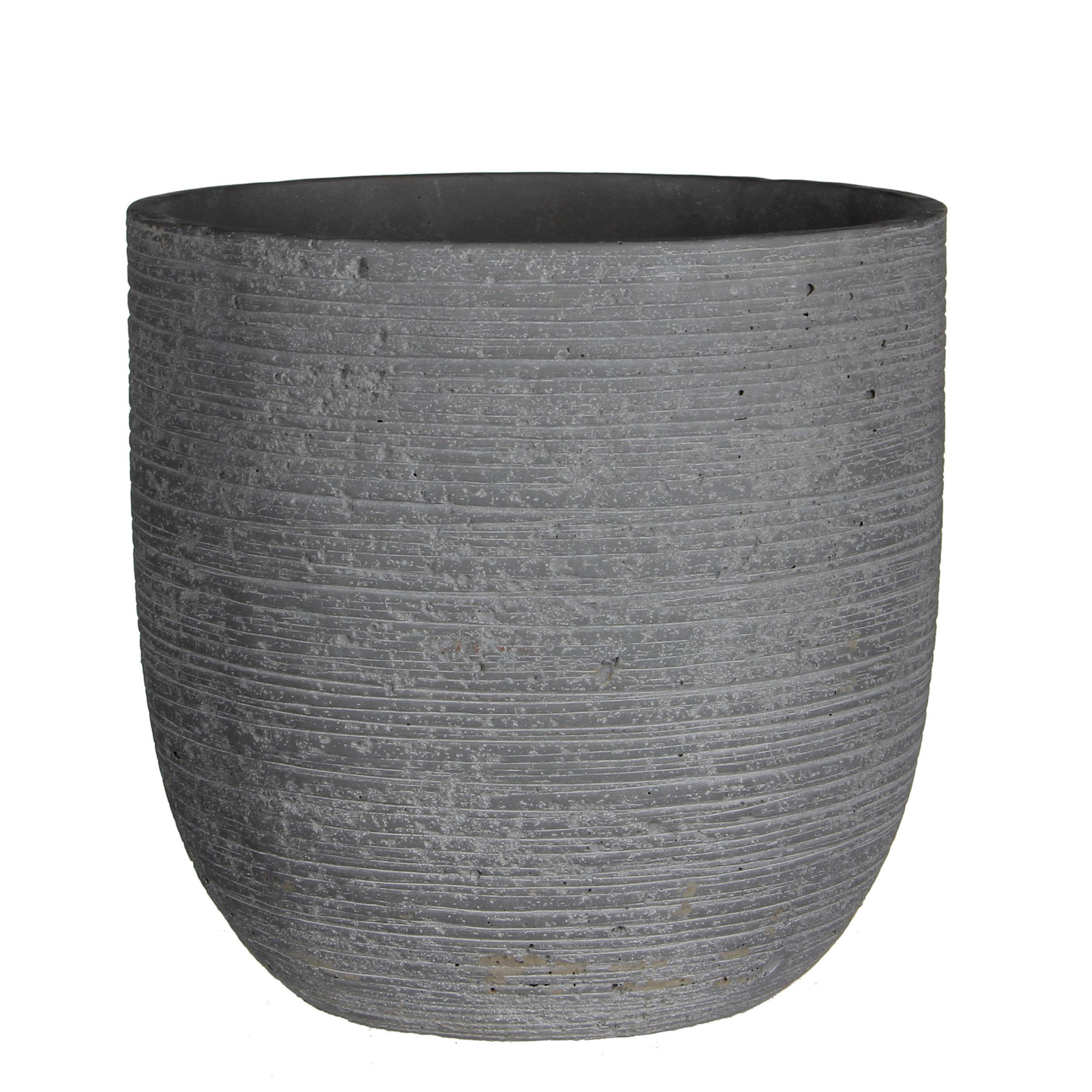 dark concrete indoor plant pot