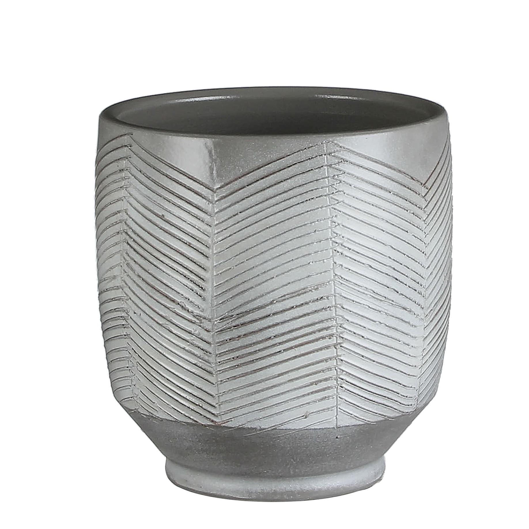 Large Grey Plant Pot