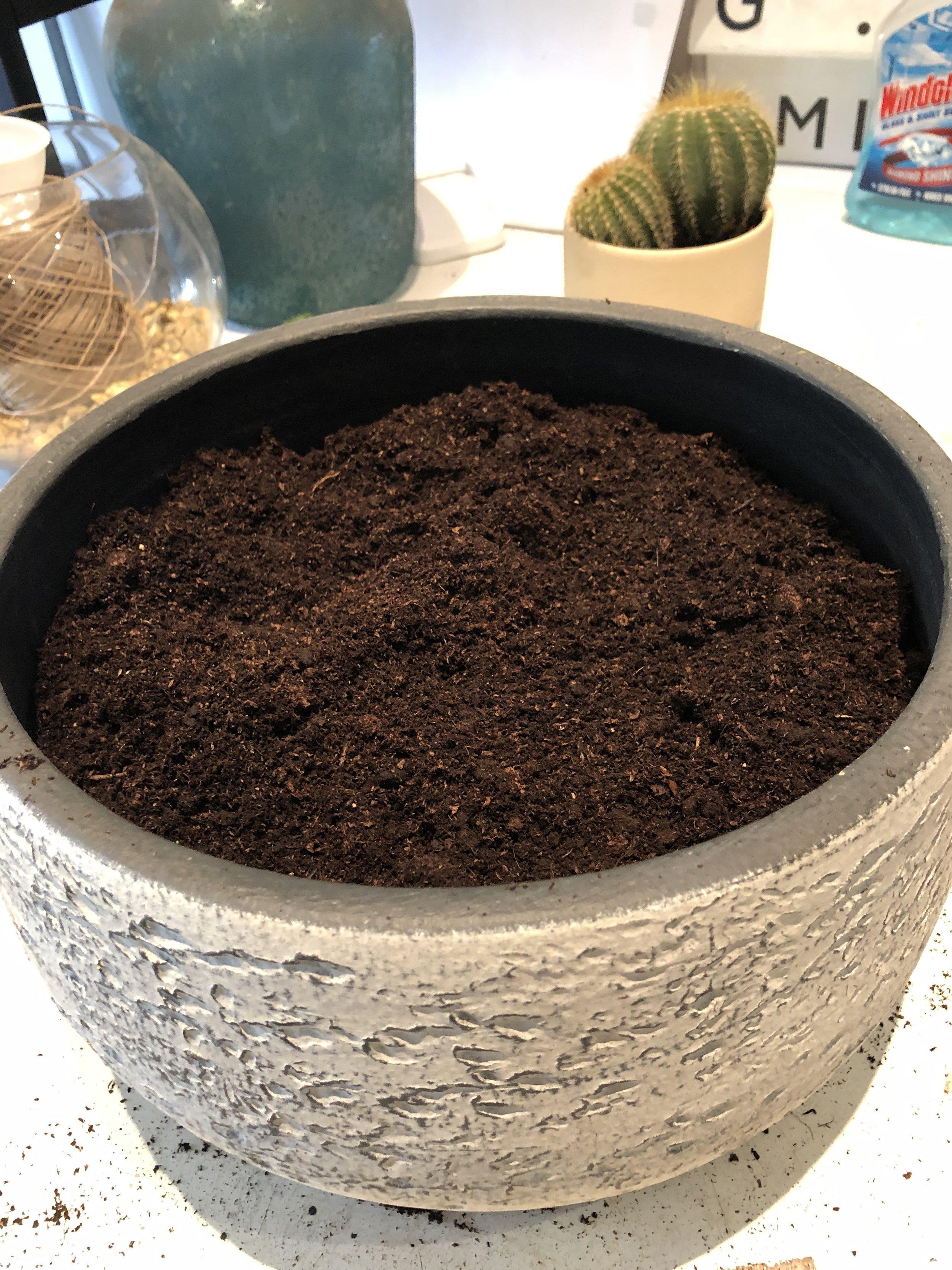 Add a compost mix