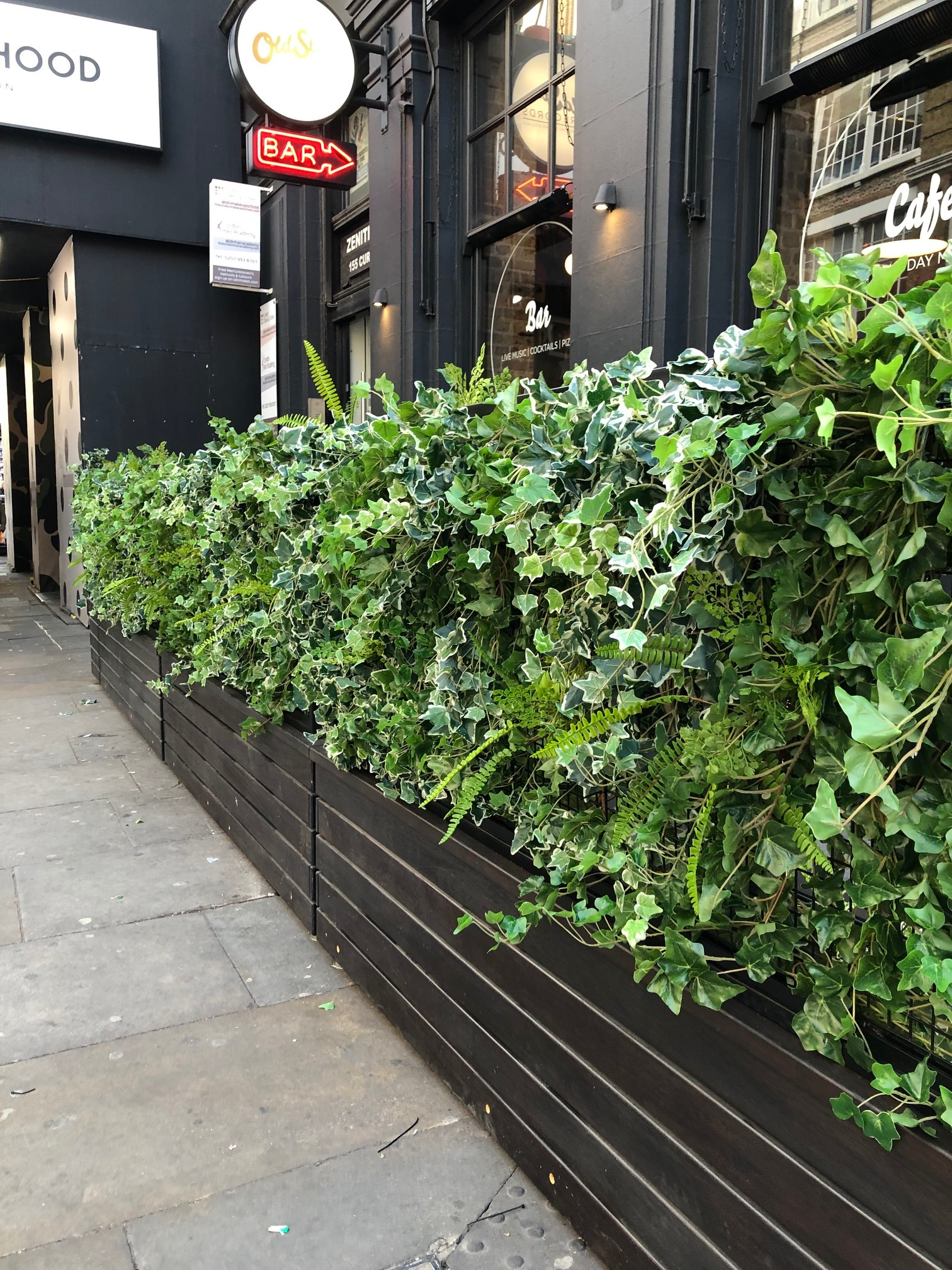 Fake plant wall services in london