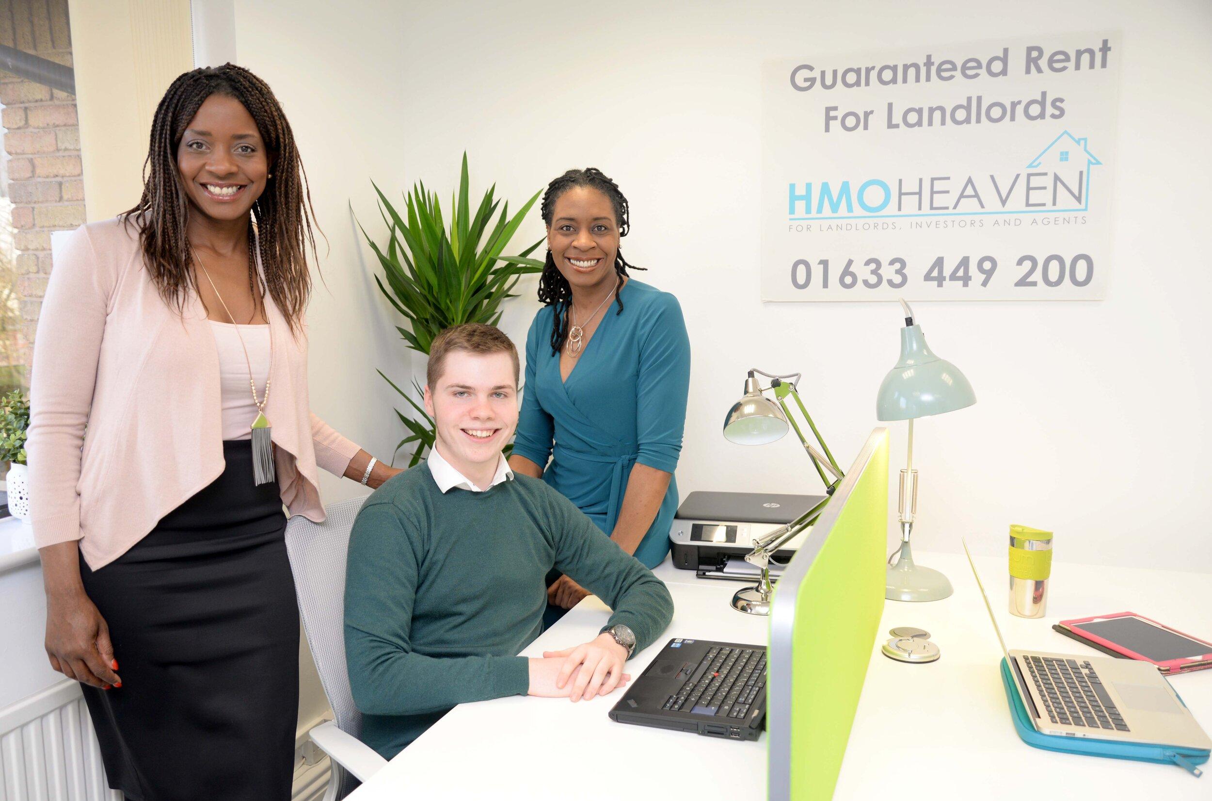 The HMO Heaven Team, l-r Stephanie, Luke and Nicky