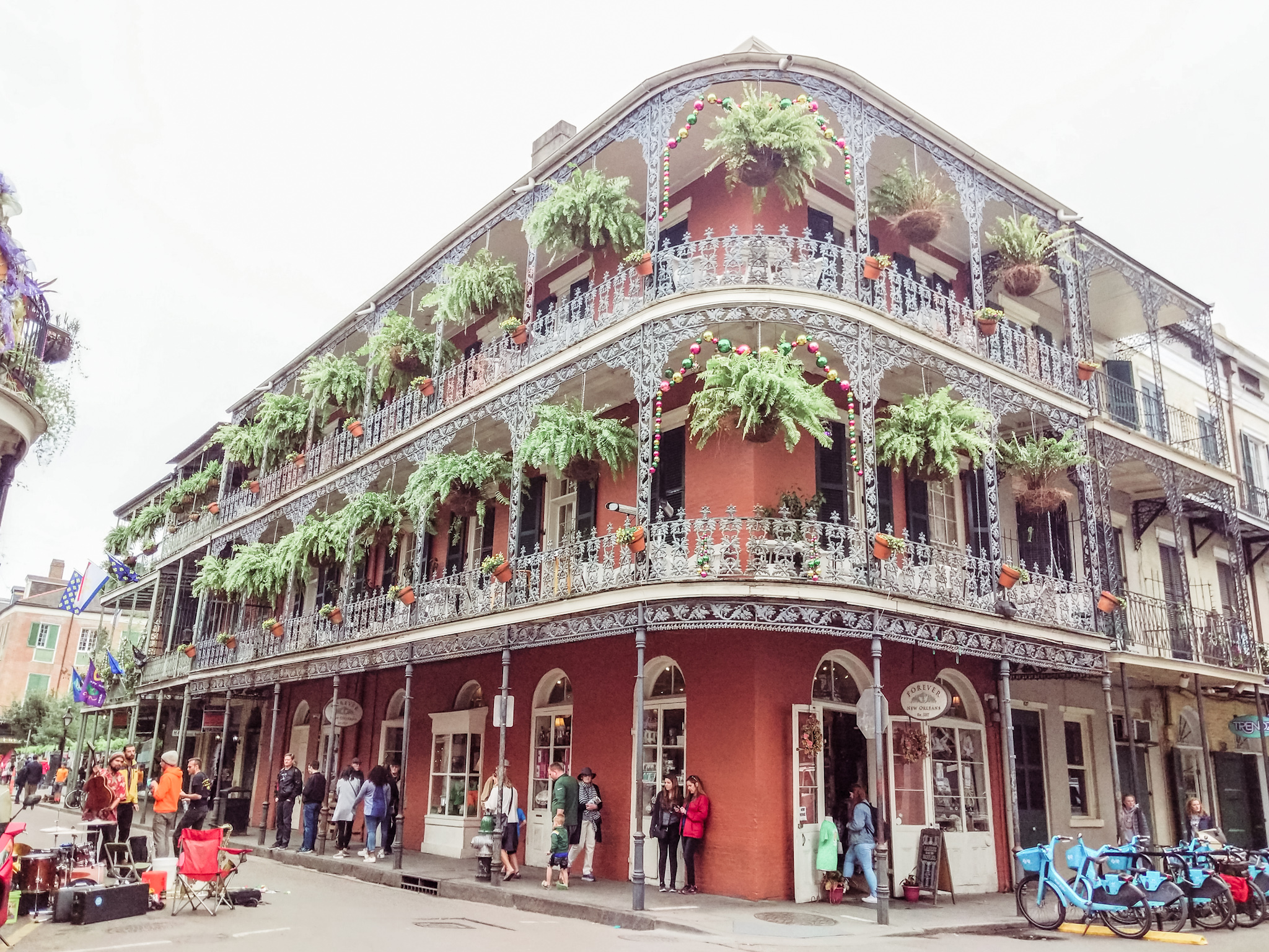 French Quarter - This district is full of stores, shoppes, food, and music. Highly recommend going on a tour to learn about the history, architecture, and how the city is still thriving. Easily walk-able.Went on a ghost tour of the Quarter, very cool.