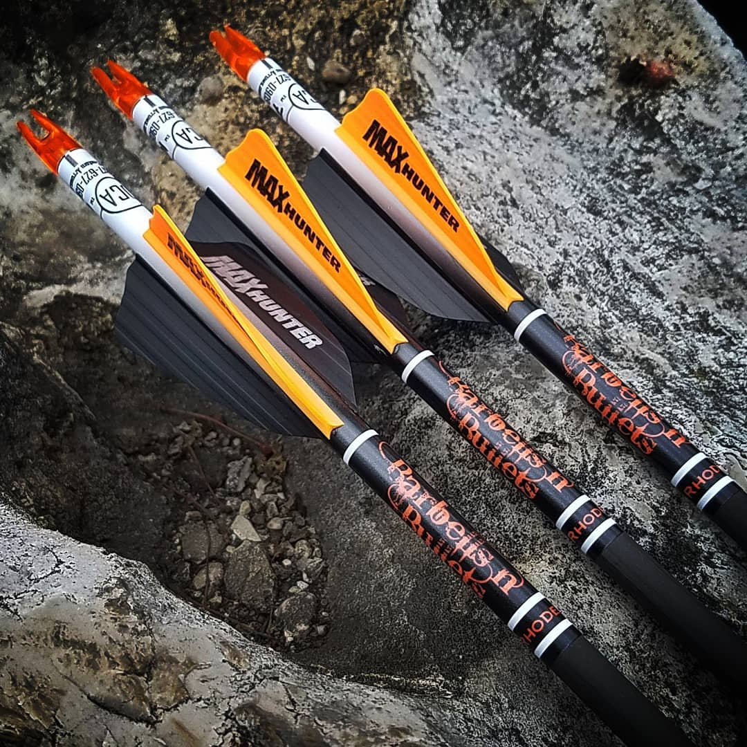 - The attention to detail and the sense of perfection @dcacustomarrowshas put into these arrows is what it's all about. I am super excited to get these through my bow and to start putting them to work on this up coming season. Thank you Kyle for putting in the time, effort and creativity that has far surpassed my expectations. The @blackeaglearrowsrampage platform matched with your customization and tuning are perfect for me to finish off with some @kudupoint_broadheads 125gr.Drew - @barbells_n_bullets