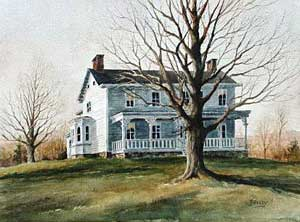 Harriman Homestead By C.H. Brandenburg Oil Painting, 22 X 28 Inches