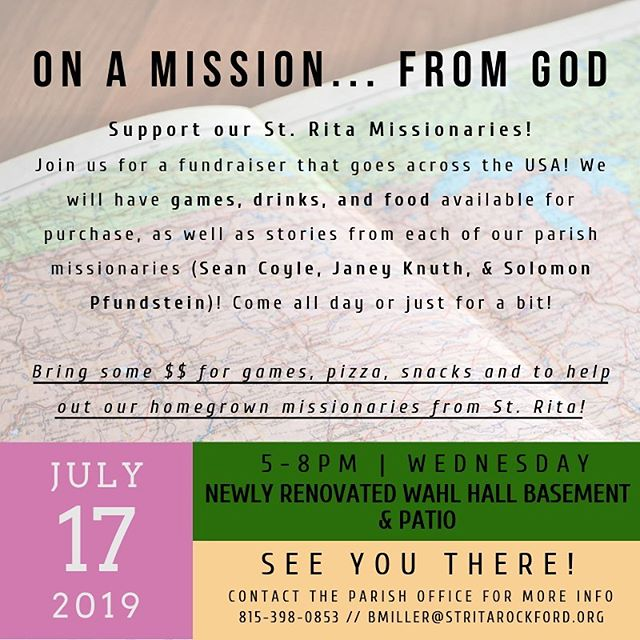 Come hang out TOMORROW from 5-8pm and help out our missionaries! Janey, Sean and Solomon would love to see you! Bring some $$ for food and games