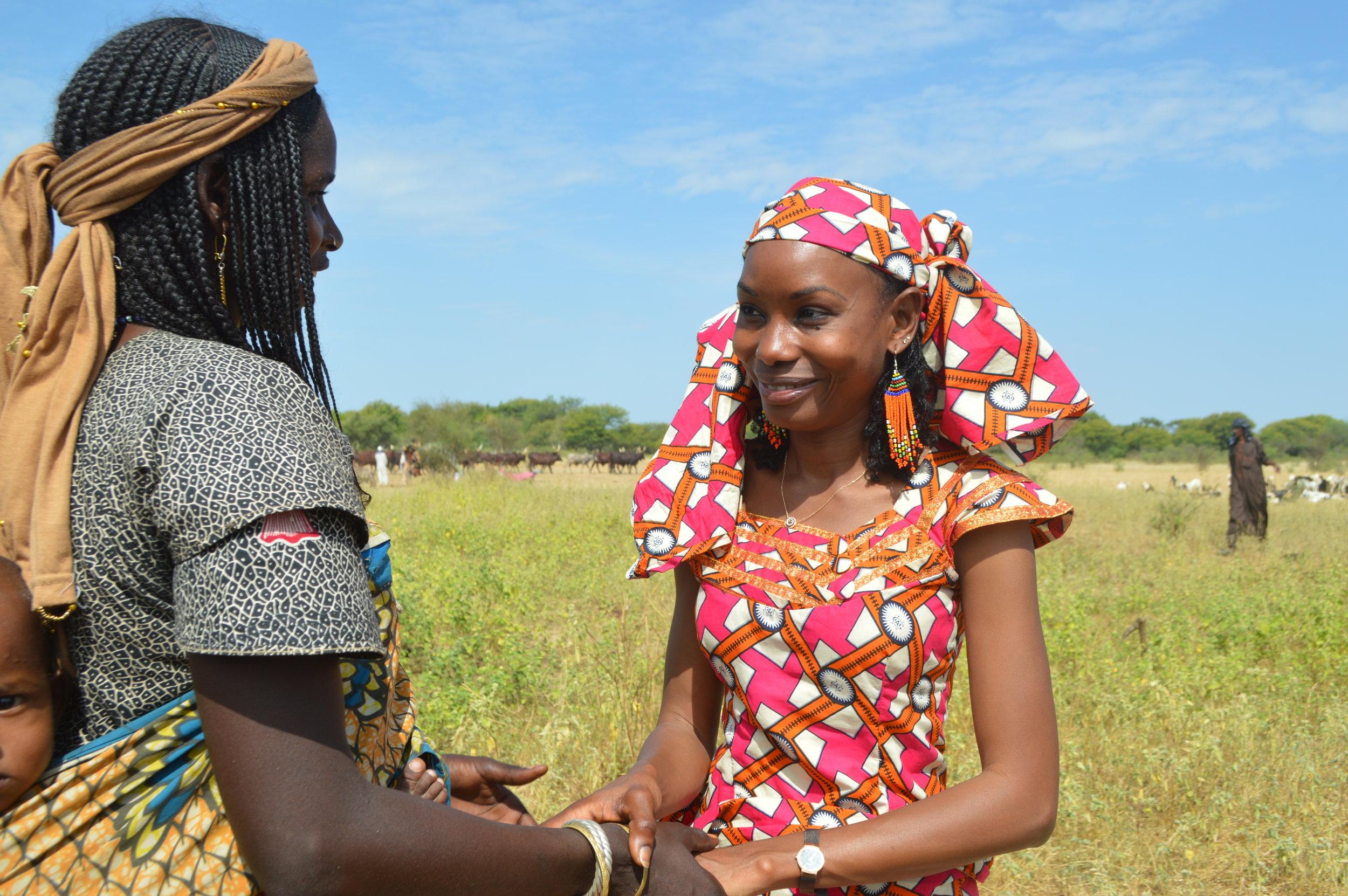 Hindou Ibrahim discussing women's empowerment in her Mbororo pastoralist community in Chad.
