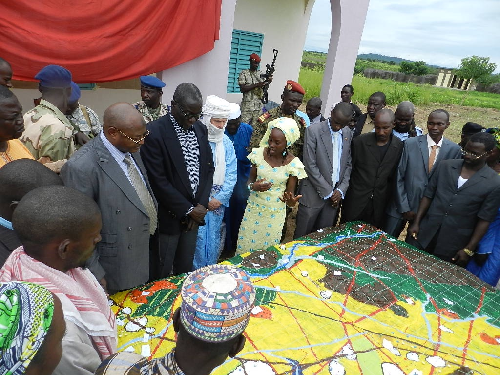 3D Mapping Project presented to local leaders and government. Photo courtesy of AFPAT.