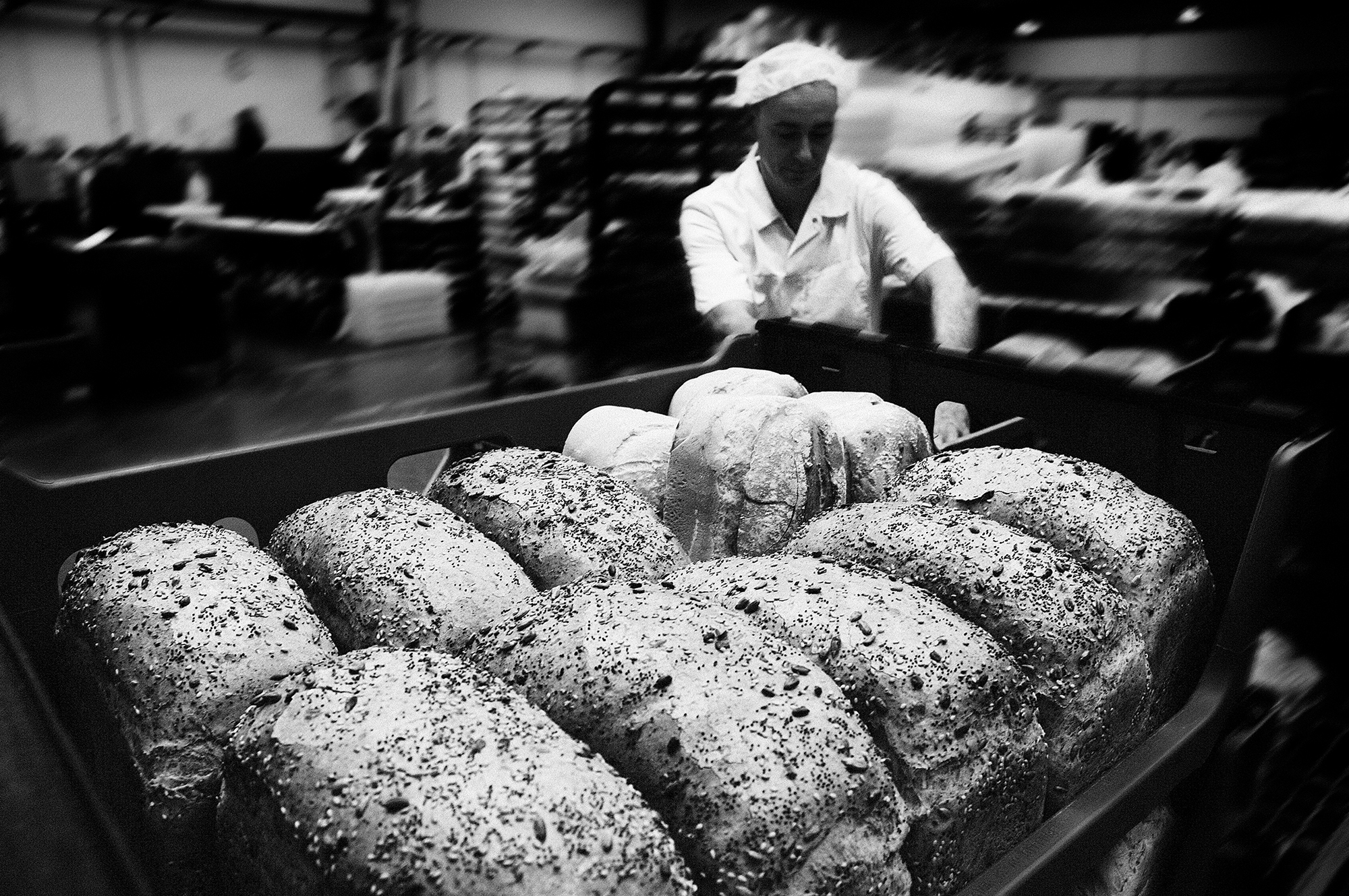 Documentary style portrait of a baker
