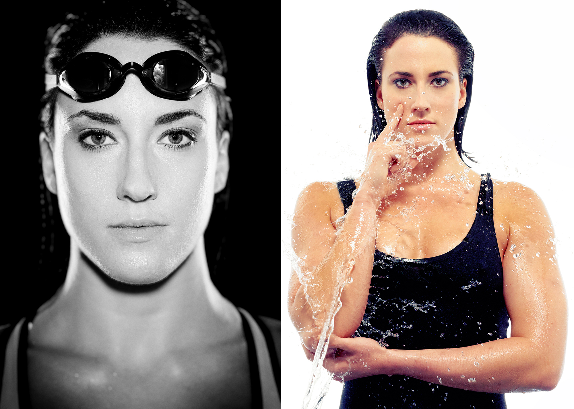 Portrait photograph of a swimmer by people photographer Jonathan Bowcott