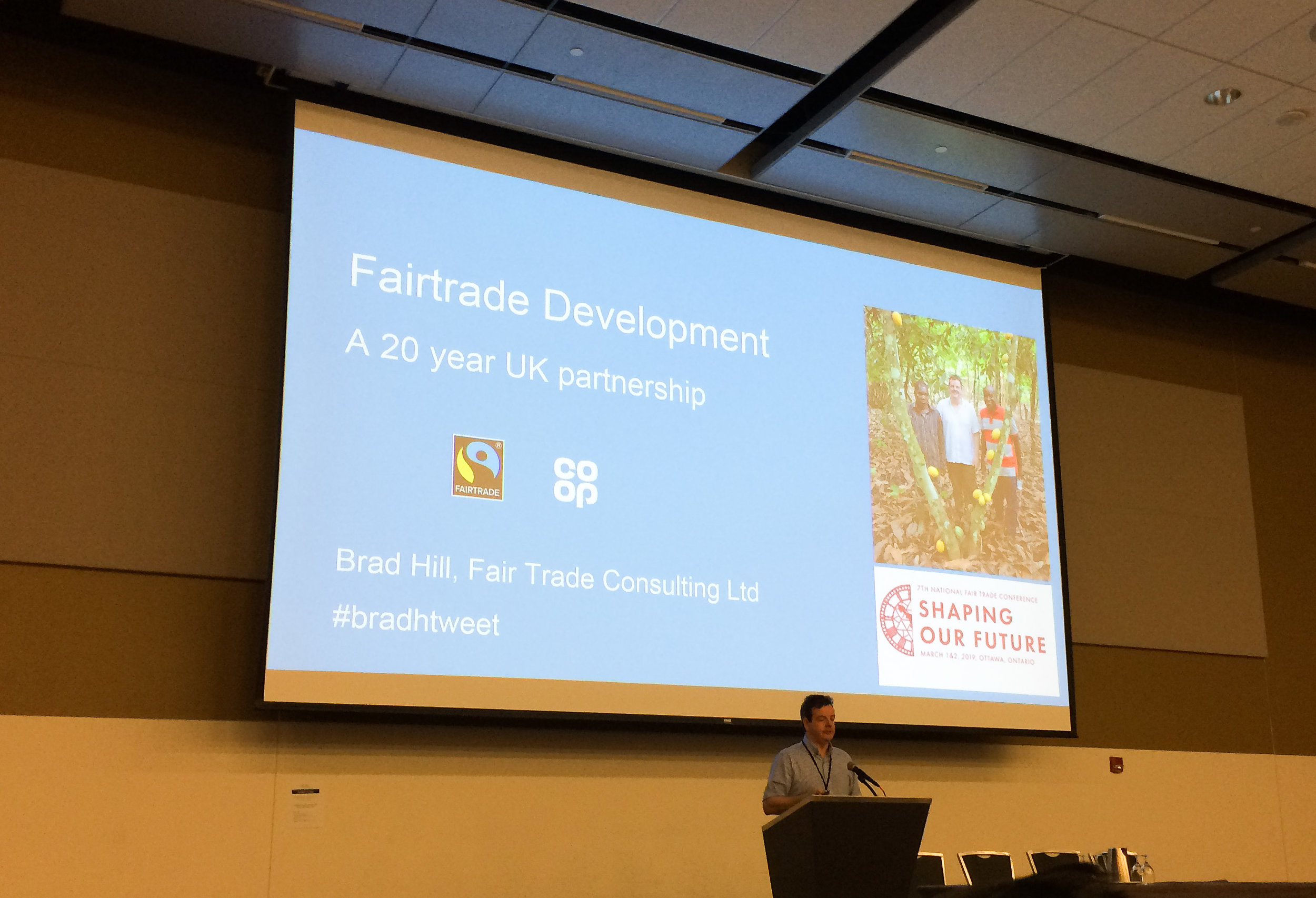 One of the speakers during the event was Brad Hill, one of the former executives of UK Coop stores who sell fair trade products almost exclusively.