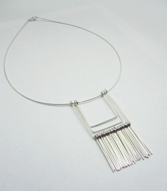 Wire Fringe Pendant  Kari Woo