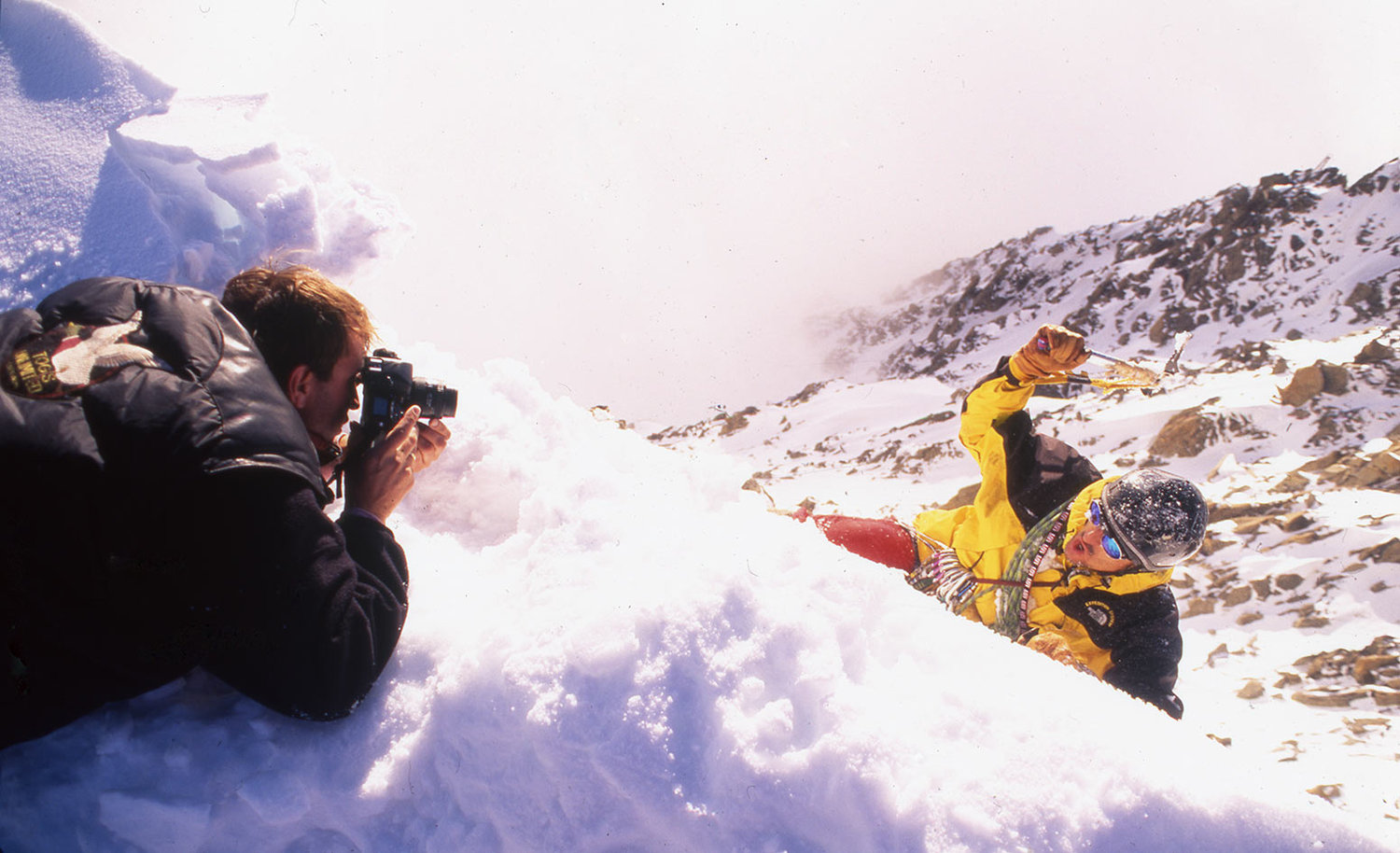Photographing a NIKON campaign on top of Mount Blanc in Chamonix/France