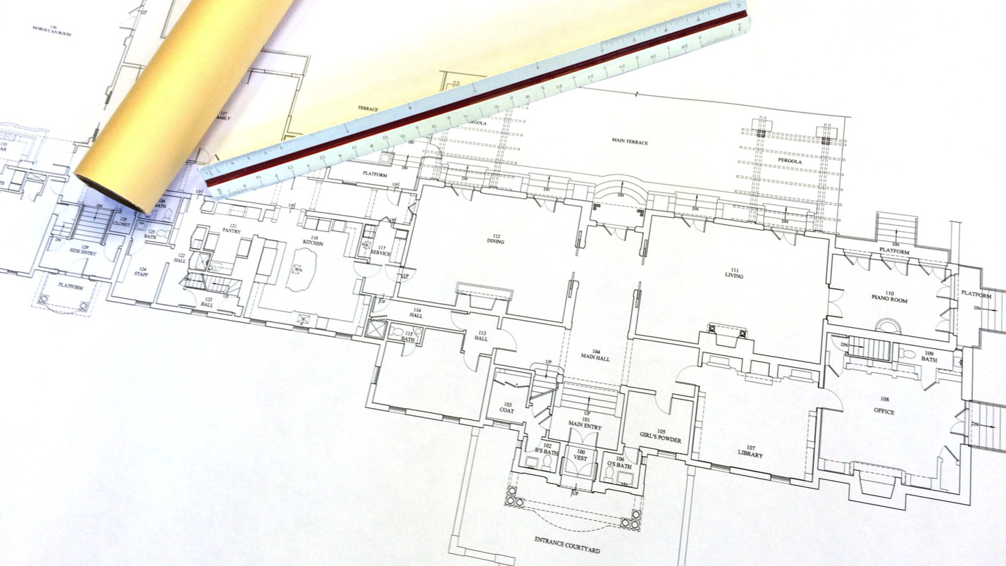 Existing Conditions - We will then draw up the existing plans, elevations, etc., of your building, as is required to be used as a basis for the proposed design. These will typically be drawn at 1/4