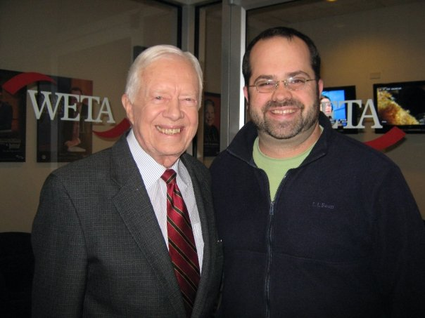 Honest - Say what you like about his four years in the White House, Jimmy Carter has led an honorable life and is an inspiration to us all. He was the only guest I actively pursued to meet during my years in television. This photo took 3 appearances, 4 years, and 2 studios to come to fruition.