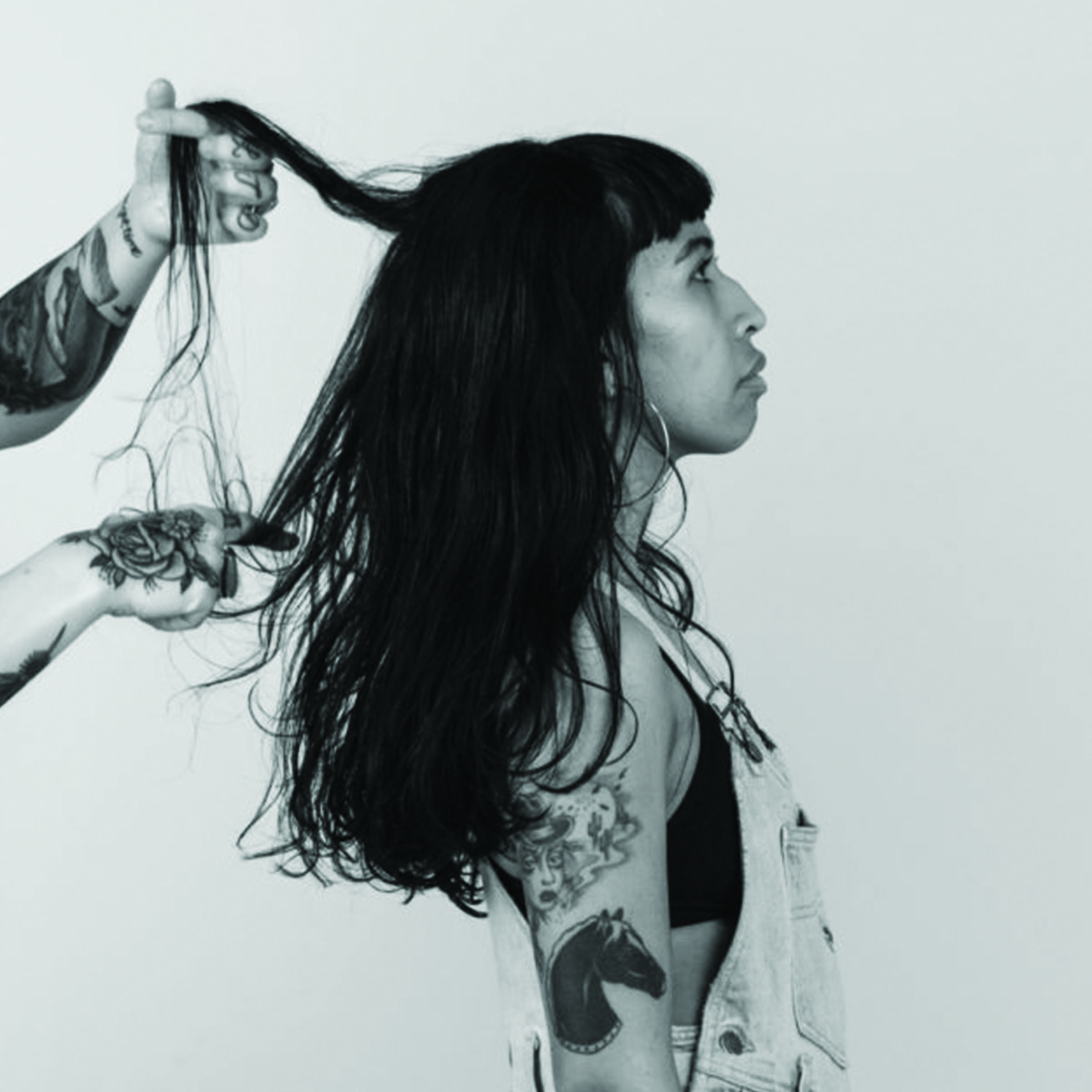 STYLE   WASH, BLOW DRY, AND/OR STYLE WITH HOT TOOLS. CAN ALSO REFER TO CLIPPER DESIGNS OR LINEWORK SHAVED INTO THE HAIR.