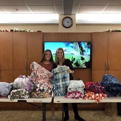 """""""My mom and I collected fleece and brought it to Reutlinger to make blankets with the seniors."""" Thank you so much @ayahoyle for being kind to those around you! #doitforlilysrv - Remember to DM us your acts of kindness in honor of Lily and visit our website doitforlily.cf!"""