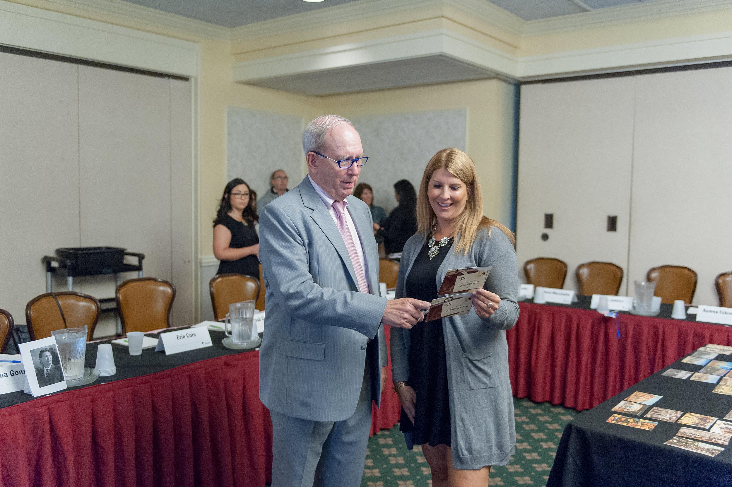 Dr. Jeff McCausland with workshop participant