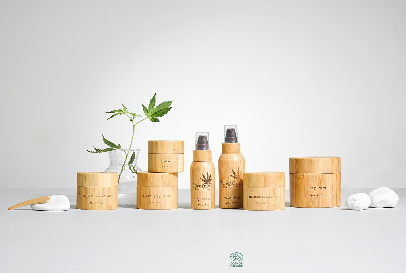Introducing the Organic Hemp Line. - Years of cutting-edge research and development have led to this innovative skincare line, based on the natural richness of organic hemp seed oil. Every element of these products, including the attractive handmade bamboo packaging, comes from natural, organic sources and offers the best for your skin, body, and soul.