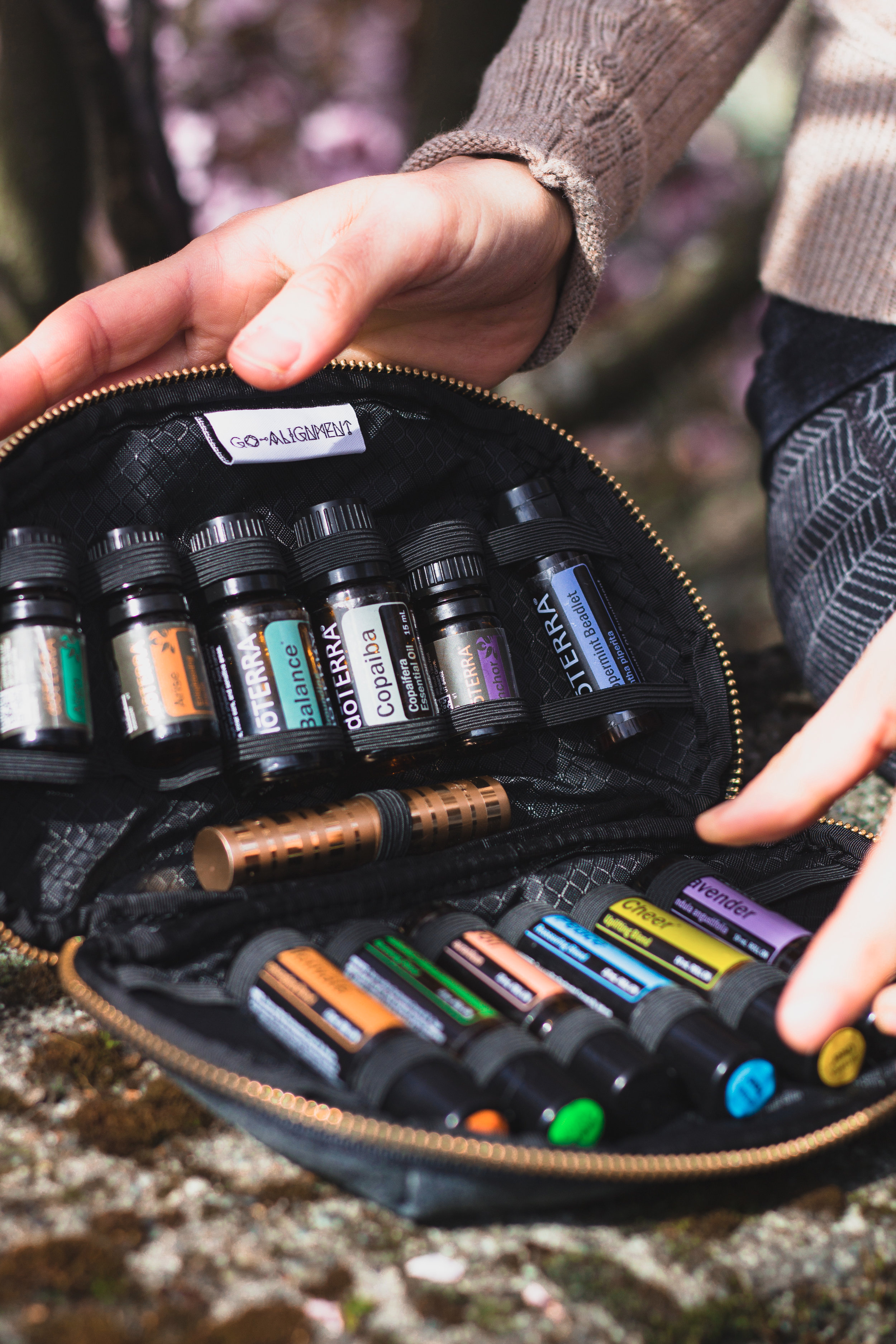 Essential Oil Carrying Case by  Go-Alignment    photo by Hanna Exner of    Three Moon Collective