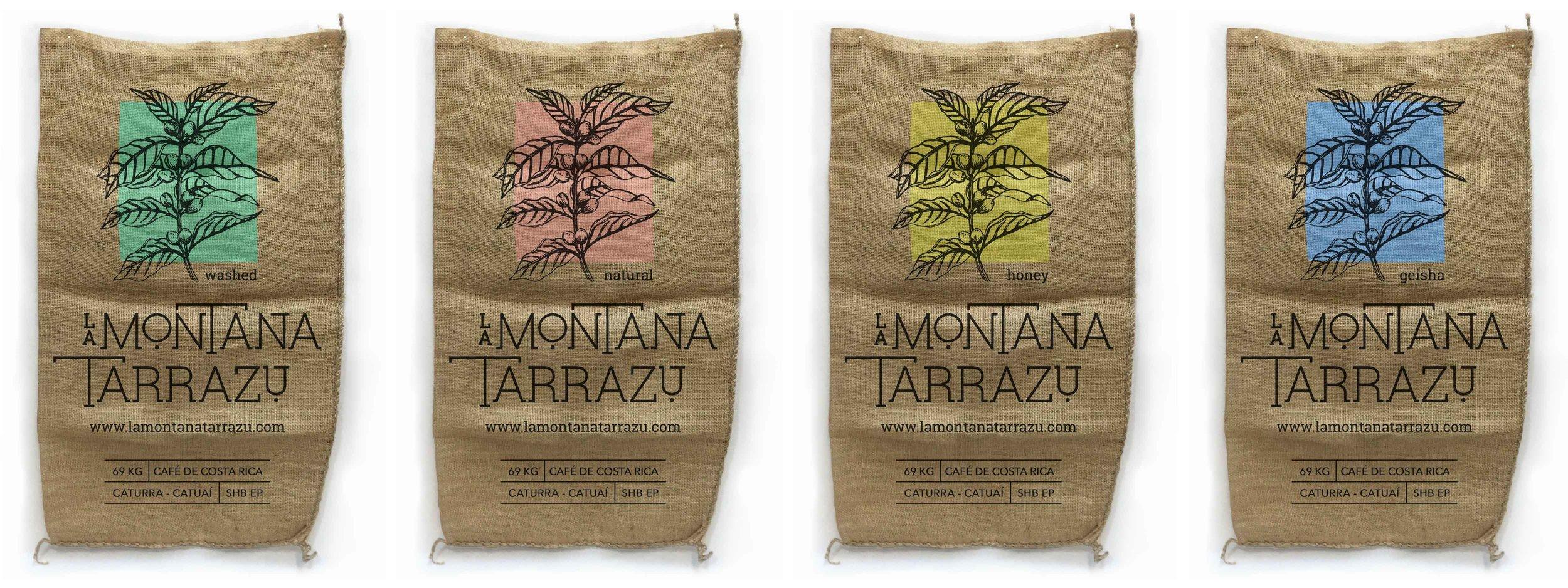 Sacos de exportación del café oro