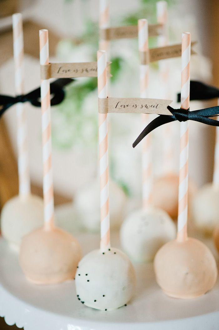 Cake Pops - These are perfect for the couple that isn't a fan of cake, but still want to have this wedding tradition included in their big day. It is just the perfect bite & is sure to be a crowd pleaser.Credit: Weddbook