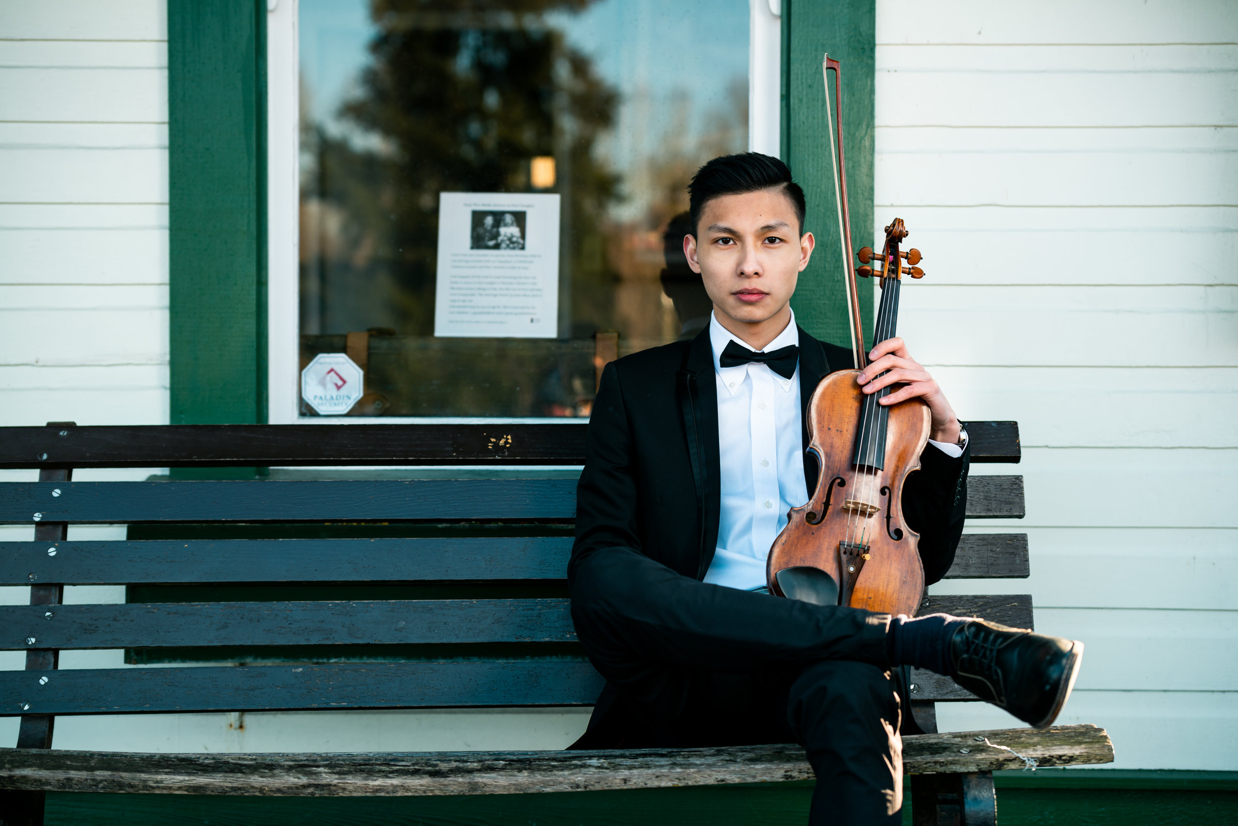 "Gower Sun - is a soloist, orchestral and chamber musician, and recording artist based in British Columbia. His playing is described by Conductor Garth Williams and violinist Jeffrey Plotnick as ""very musical and smooth and always in a controlled manner,"" with ""a fine spirit that shines through.""Gower is an active chamber musician in multiple groups and is the violinist of Trio Müvészeti, which won 1st prize in the National Chamber Class at the 2019 BC Arts Provincials, represented Team BC and was awarded 2nd prize at the FCMF National Music Festival Competition.Aside from being the current Associate Concertmaster in VAMSO and the former Concertmaster in the Langley Symphony Orchestra, Gower frequently appears in numerous film scores and independent music productions.Gower teaches students from a wide range of age and level. His students have multiple times been awarded the RCM Regional Gold Medal for Highest Exam Mark in addition multiple prizes at local competitions.Gower plays on an Italian violin attributed to the Testore family, (Milan, c.1750)."