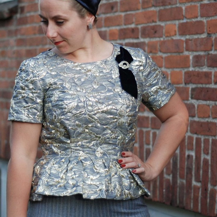 Blouse with peplum -