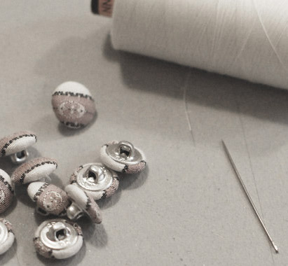 Sew in a button -
