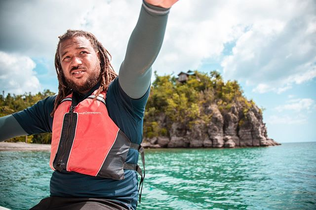 I #love this photo of Captain Don. He took us around the waters of #Dominica near #secretbay—next time, I want him to show us how to catch the invasive lionfish. This island is incredible. Don't go so I can have it to myself. ✌️