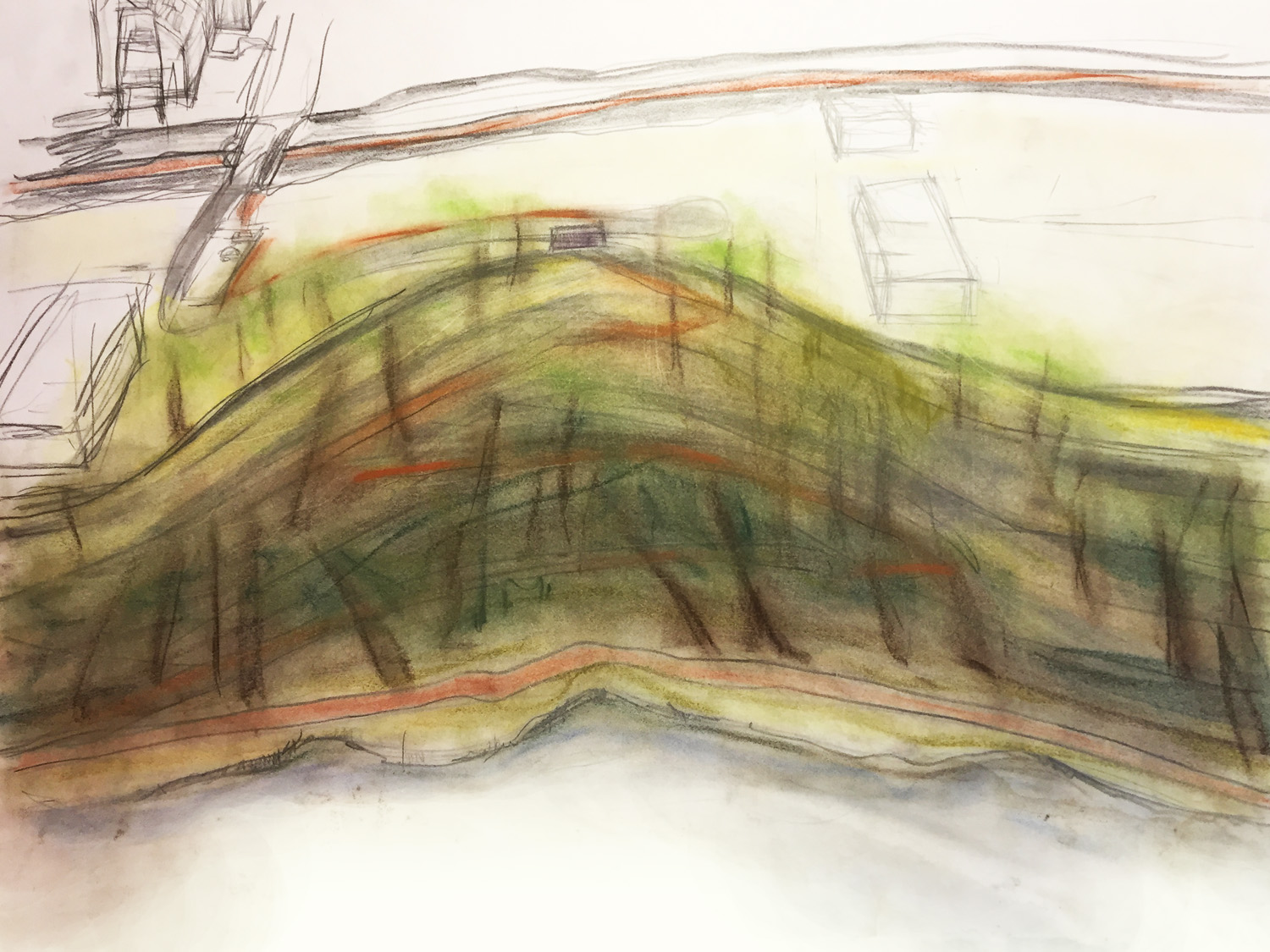 Early concept sketch for Urban Ecology Center