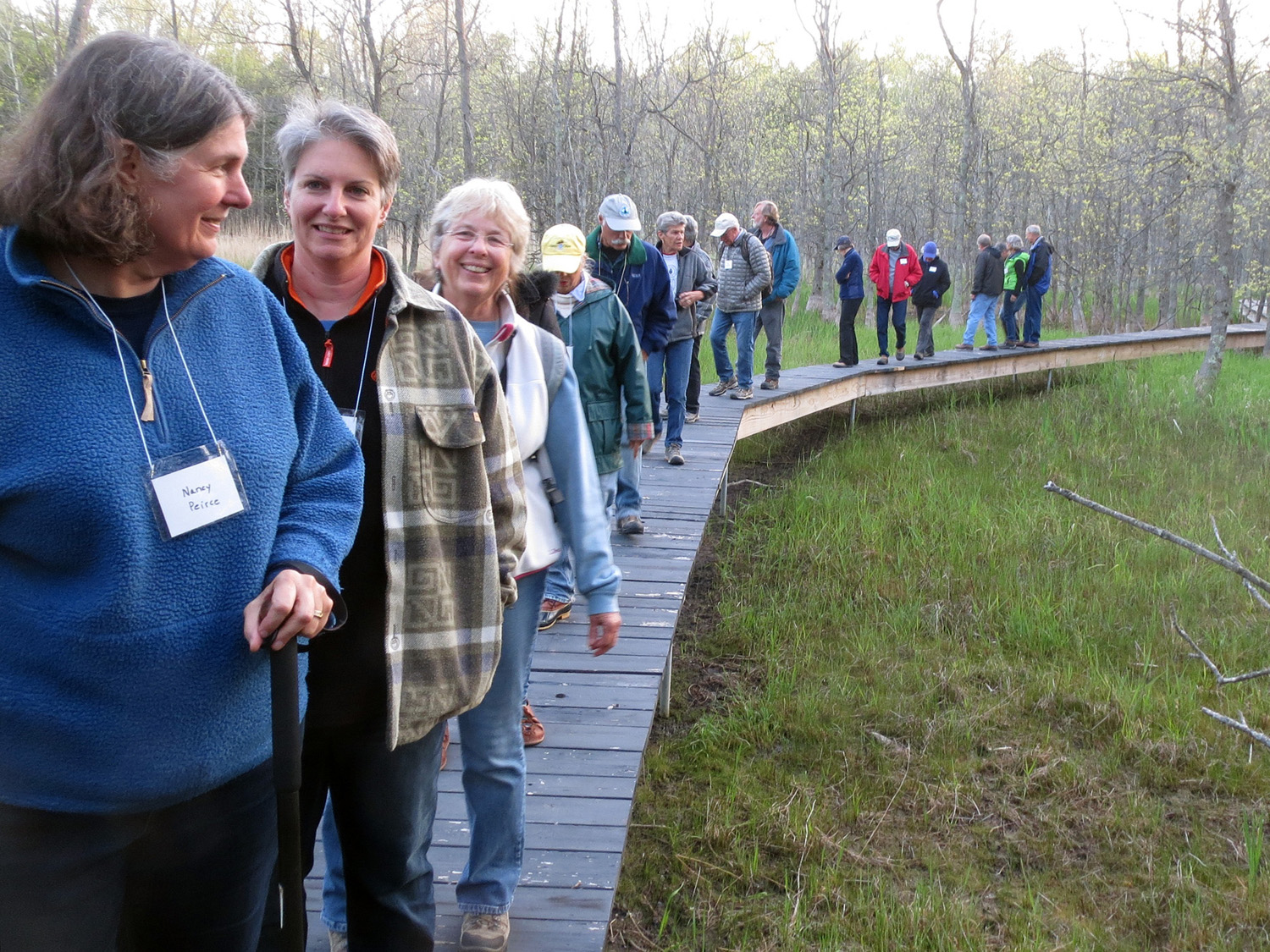Group out for a frog walk, Bay Shore Blufflands