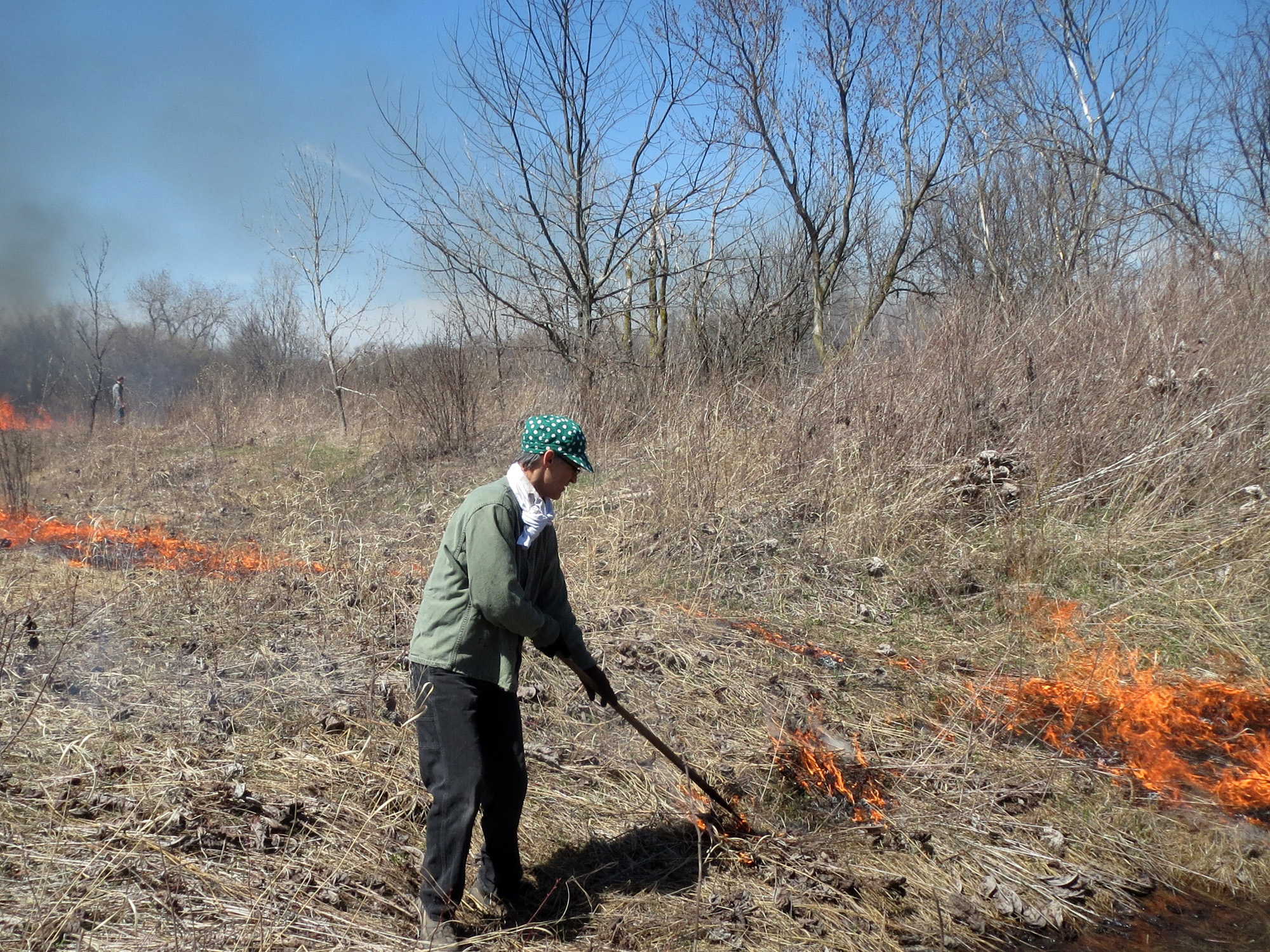 Prescribed burn crew, public lands