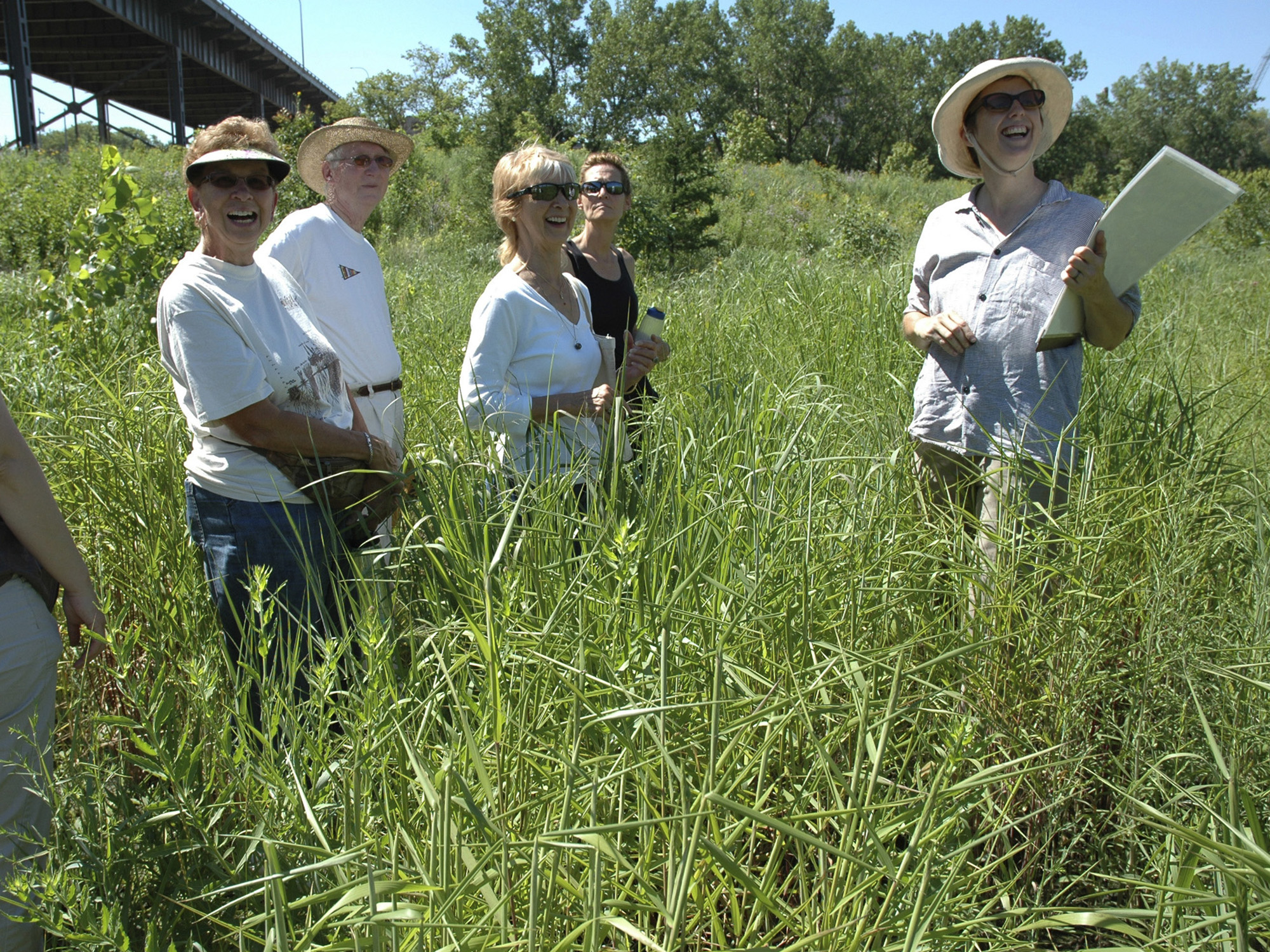 Leading botany/restoration walk with Wild Ones - Milwaukee North chapter (photo: Ney Tait Fraser)