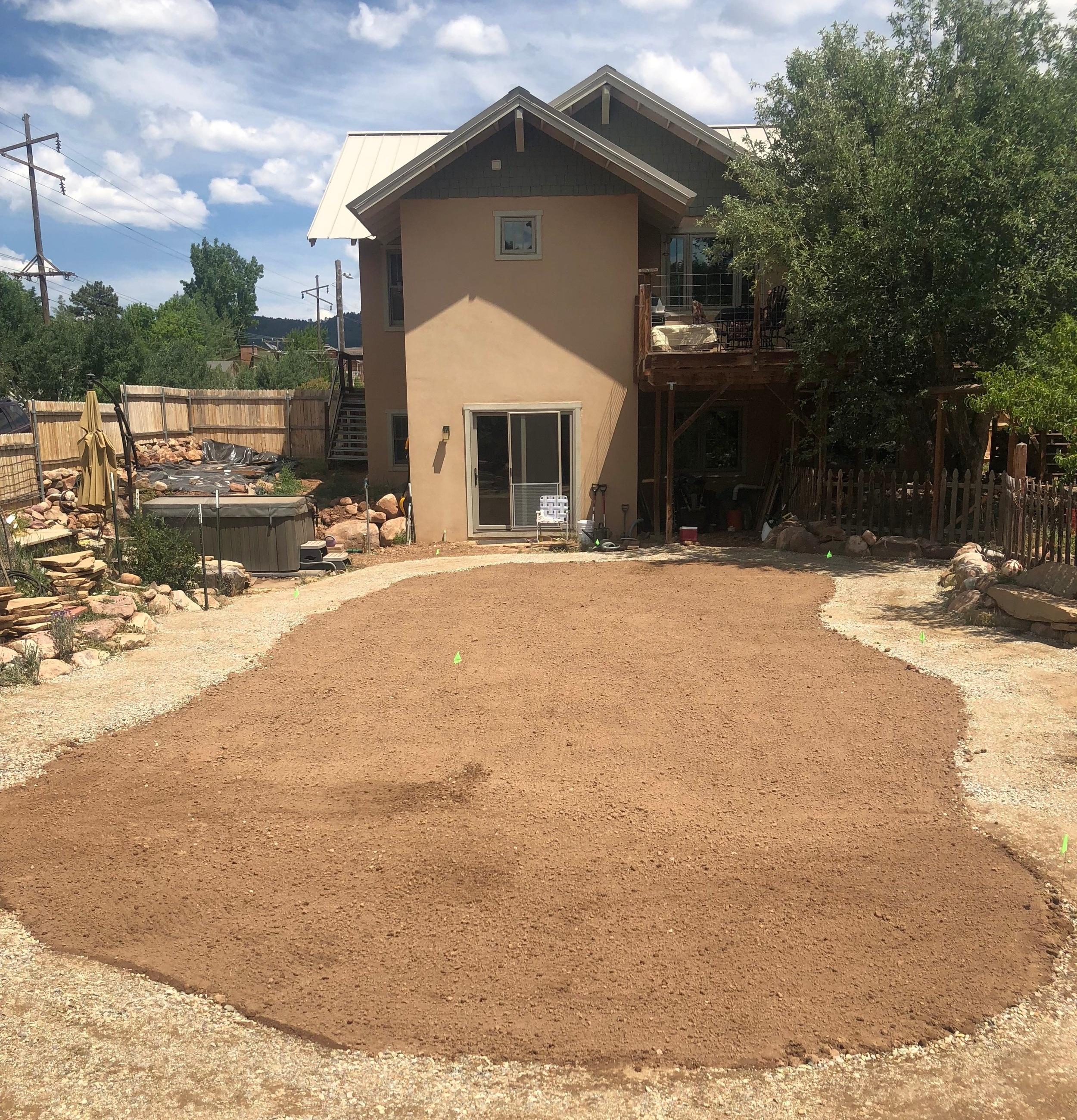before sod installation, animas city, Durango Colorado