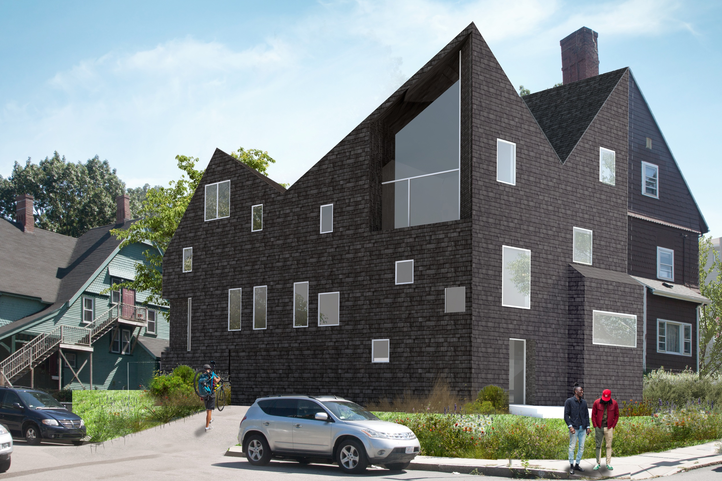 Trull Street Annex - A proposal for a new but familiar neighbor - creating new housing opportunities on the site of a previously fire-damaged property