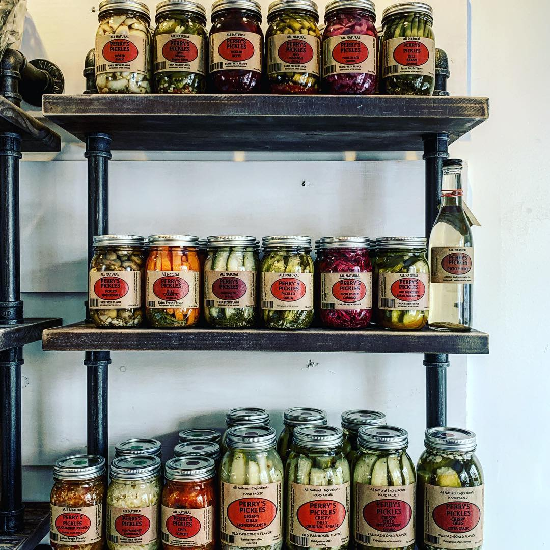Perry's Pickles - A gourmet artisanal pickle producer located in Rosendale, NY. They are a family owned and operated company that specializes in hand made, small batch canning using only fresh ingredients from local sources. All of their products are additive and preservative free.