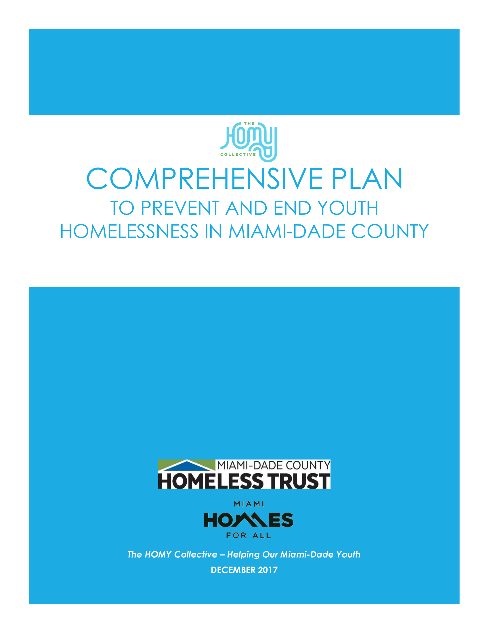 Comprehensive Plan to End and Prevent Homelessness in Miami-Dade County - December 2017-01.png