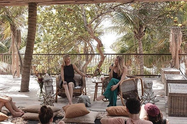 There's something very special about the art of speaking & the art of listening...both of which are essential for authentic, meaningful, impactful, and empowering  communication . . .  We at RISE value both. So proud of our Co-Founder @caroburckle sharing her story & how RISE was born at @summit Tulum🌴 . . . #listen #speak #communicate #Riseathletes #authentic #olympianmentor