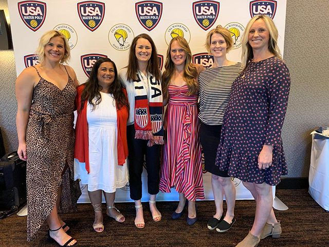 Are you KIDDING ME!? Three RISE Olympian Mentors all together to celebrate @betseyarmstrong 'S induction to @usawp HALL OF FAME!? YES. @peatreedish @kamicraigusa - you two rock for supporting Betsey in this venture. All of you are amazing mentors, humans, and athletes. WE LOVE YOU, and congrats to our Mentor Betsey! #teamRISE . . #friday #halloffame #waterpolo #usawaterpolo #mentors #Olympians