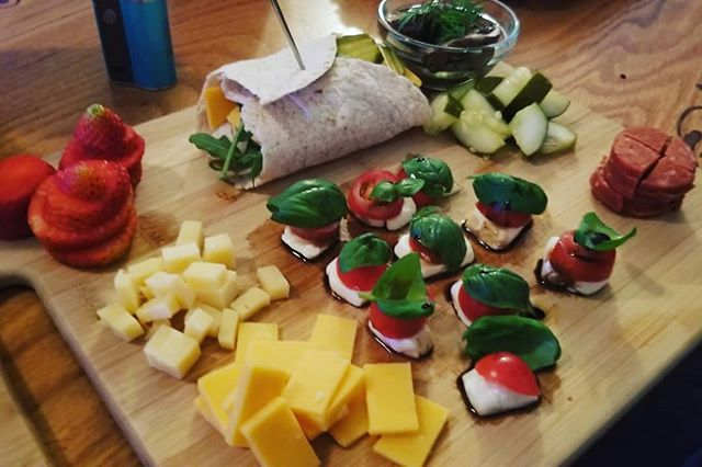 Sometimes you just need a bunch of snacks... #snack #cheese #fruit #pickles #wrap