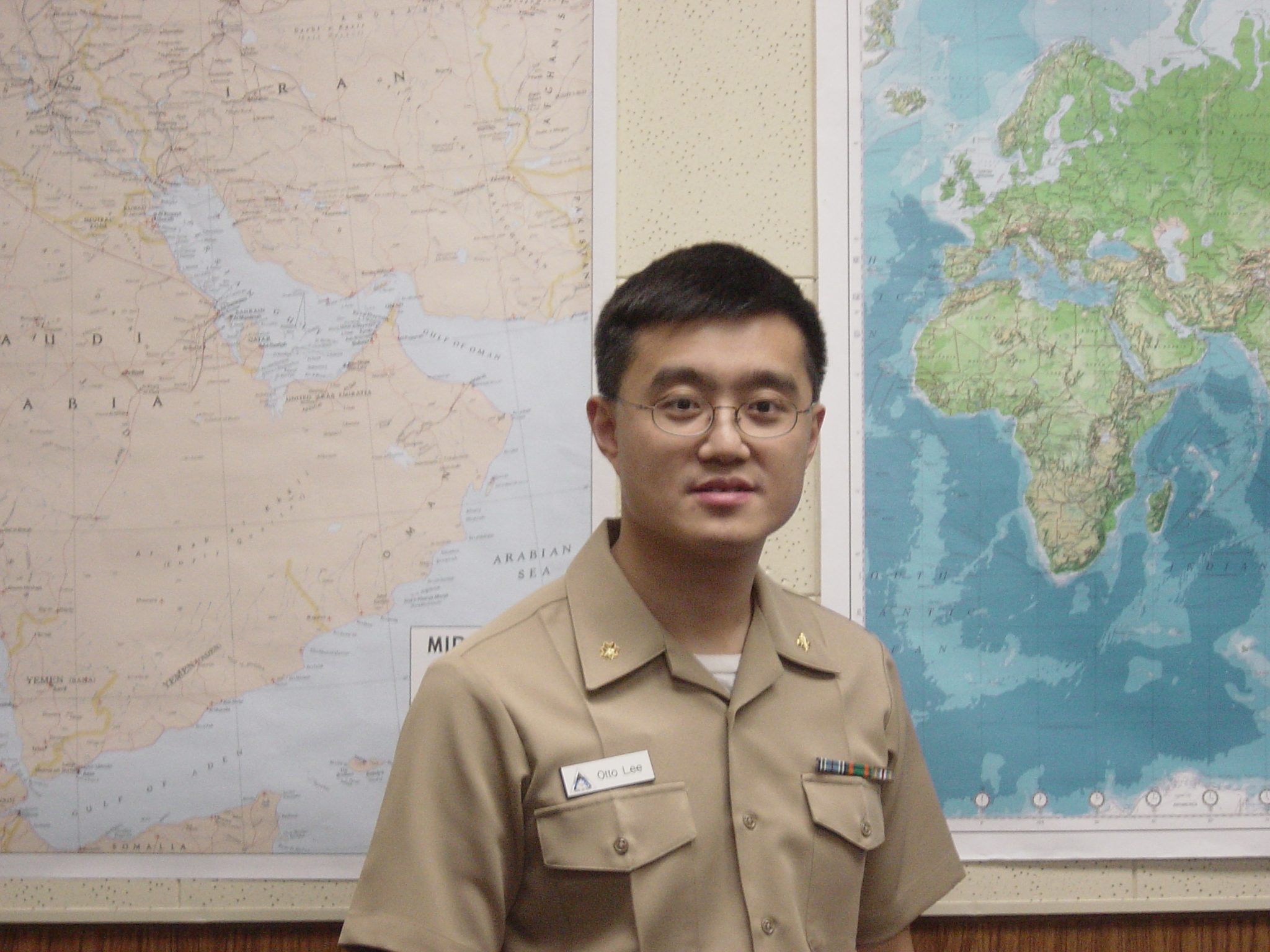 Otto Lee - Navy Khakis with Map_lg.JPG